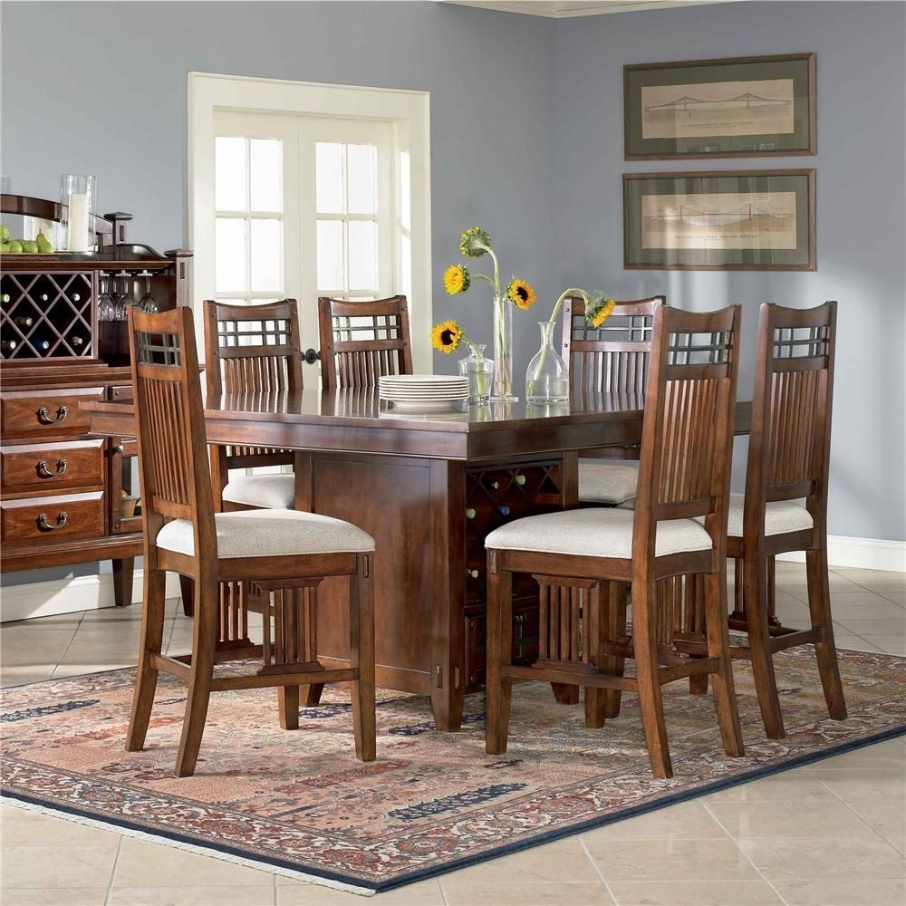 Vantana 7 Piece Pub Table Setbroyhill Furniture | House Regarding Recent Laurent 7 Piece Counter Sets With Wood Counterstools (Image 17 of 20)
