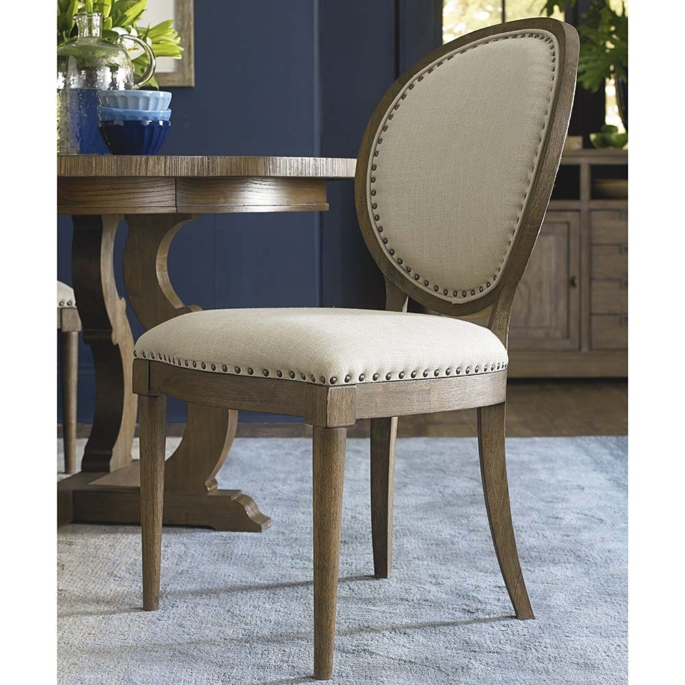 Vintage Oval Back Side Chair | Bassett Home Furnishings Pertaining To Current Artisanal Dining Tables (Photo 17 of 20)