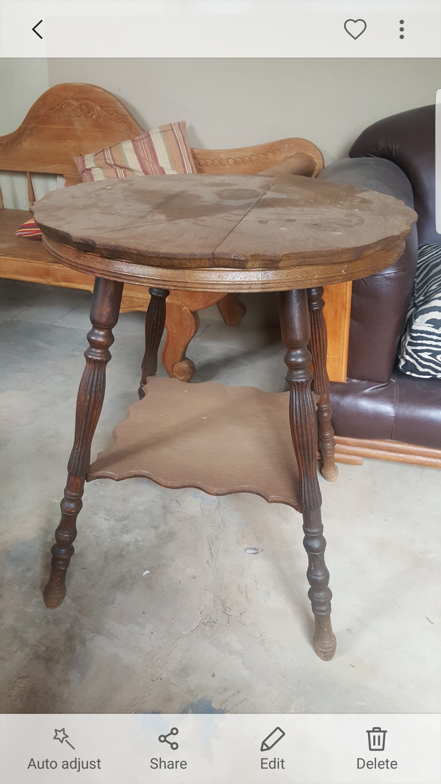 Vintage Partridge Wood Table | Junk Mail Regarding 2017 Partridge 6 Piece Dining Sets (Photo 17 of 20)