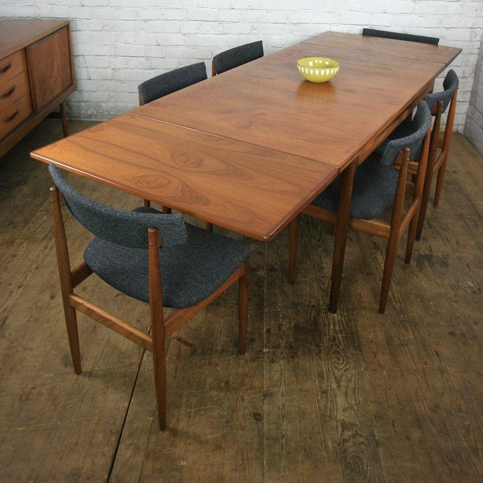 Vintage Teak Extending Dining Tablekofod Larsen | Apt. Decor Within Latest Outdoor Brasilia Teak High Dining Tables (Photo 11 of 20)