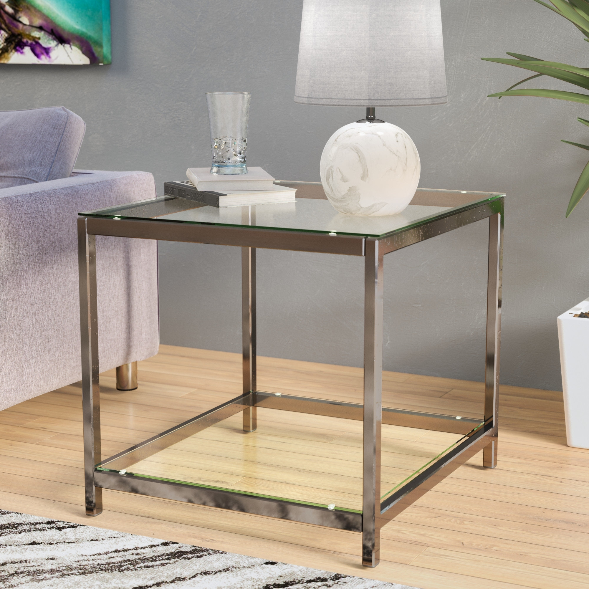 Wade Logan Combs End Table & Reviews | Wayfair For Most Popular Combs Extension Dining Tables (Image 20 of 20)