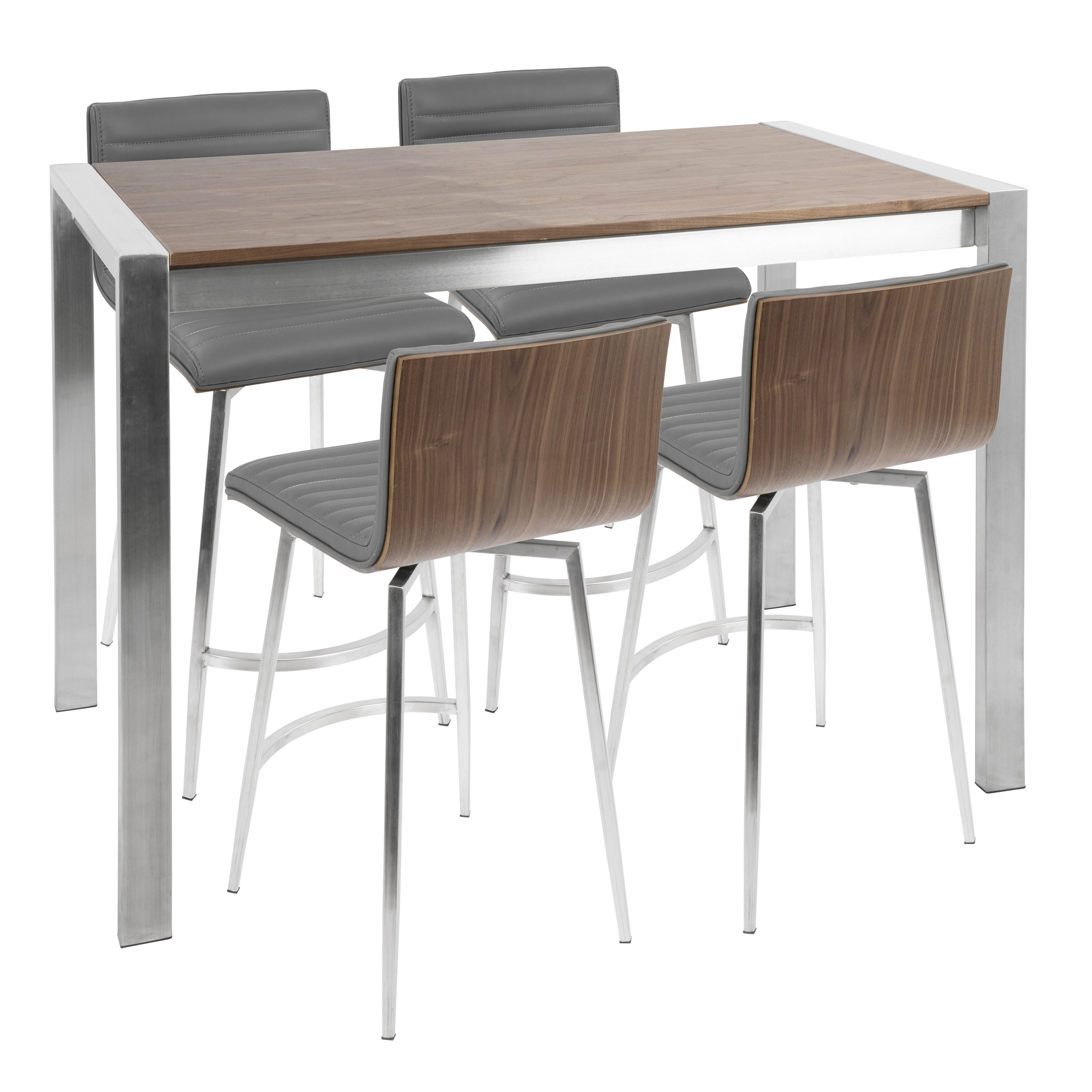 Wade Logan Jacque 5 Piece Counter Height Dining Set | Wayfair Intended For Current Laurent 7 Piece Counter Sets With Upholstered Counterstools (View 20 of 20)
