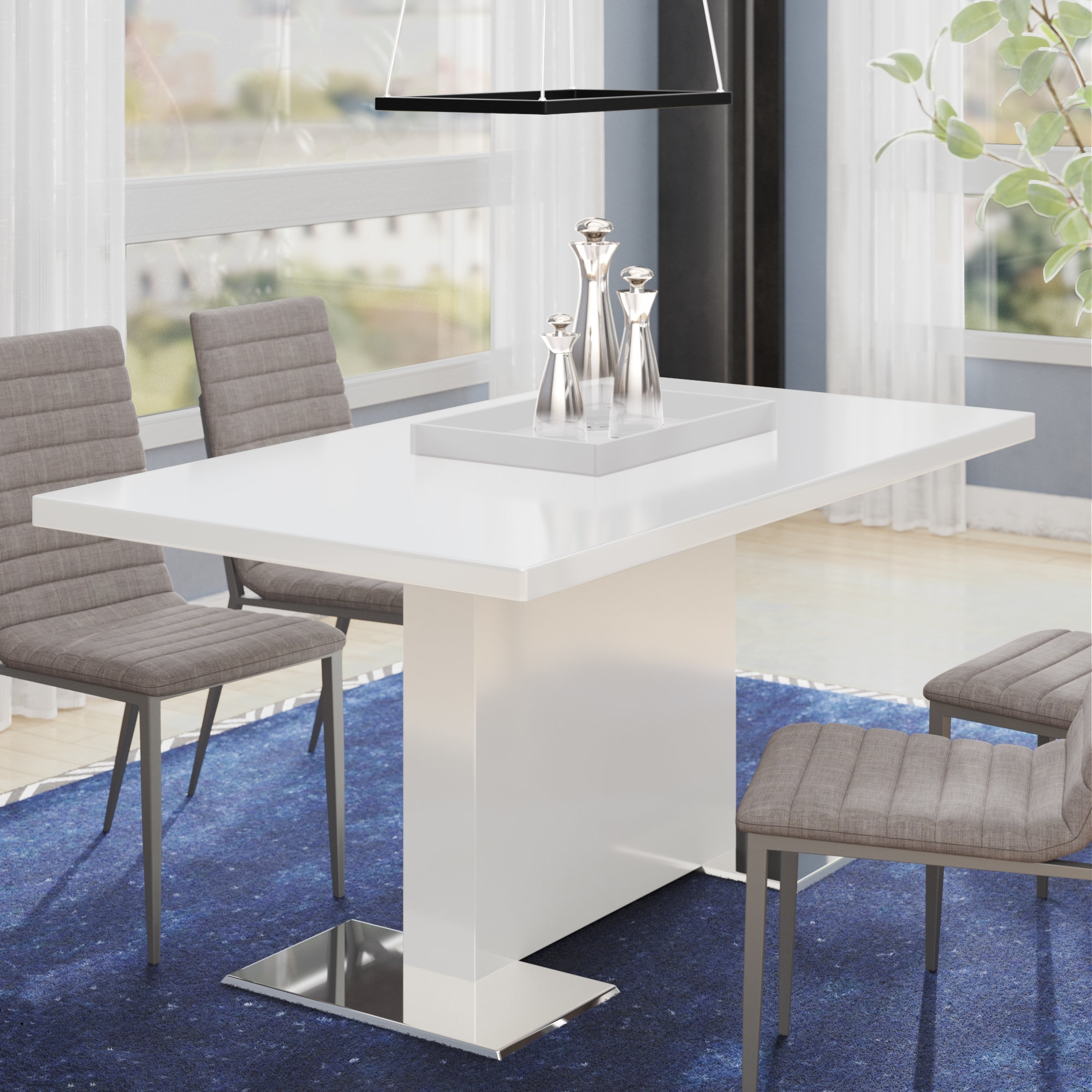 Wade Logan Plumville Dining Table & Reviews | Wayfair With Newest Delfina Dining Tables (Image 20 of 20)