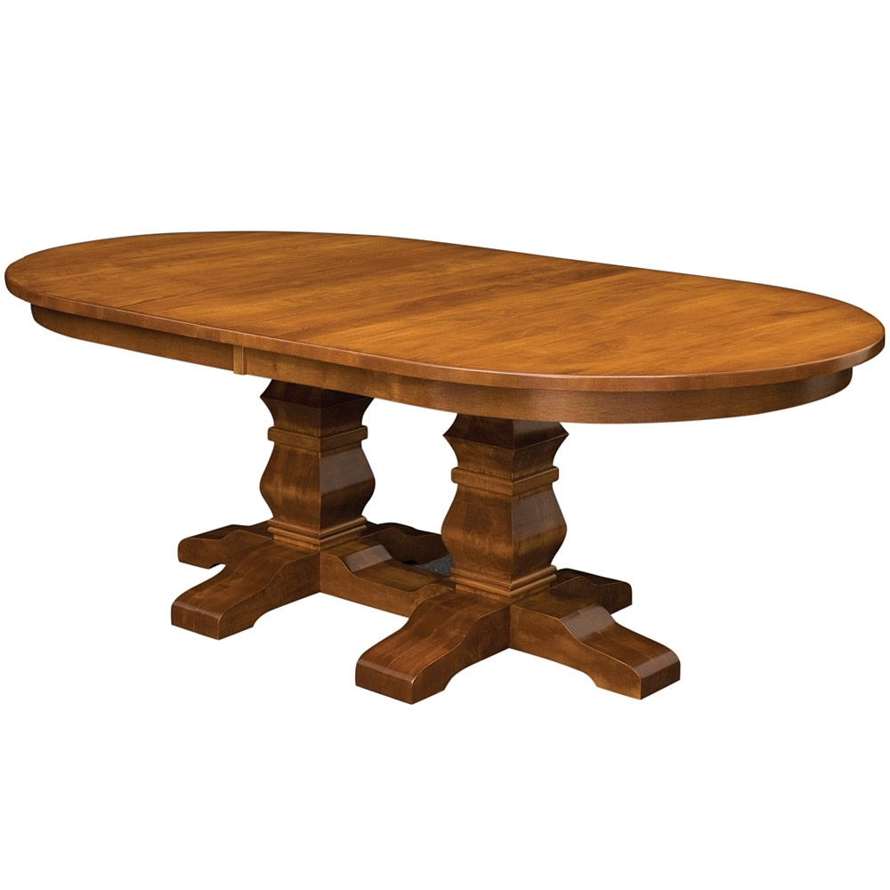 Walden Double Pedestal Amish Dining Table  Amish Tables | Cabinfield Pertaining To Latest Walden Extension Dining Tables (Image 17 of 20)