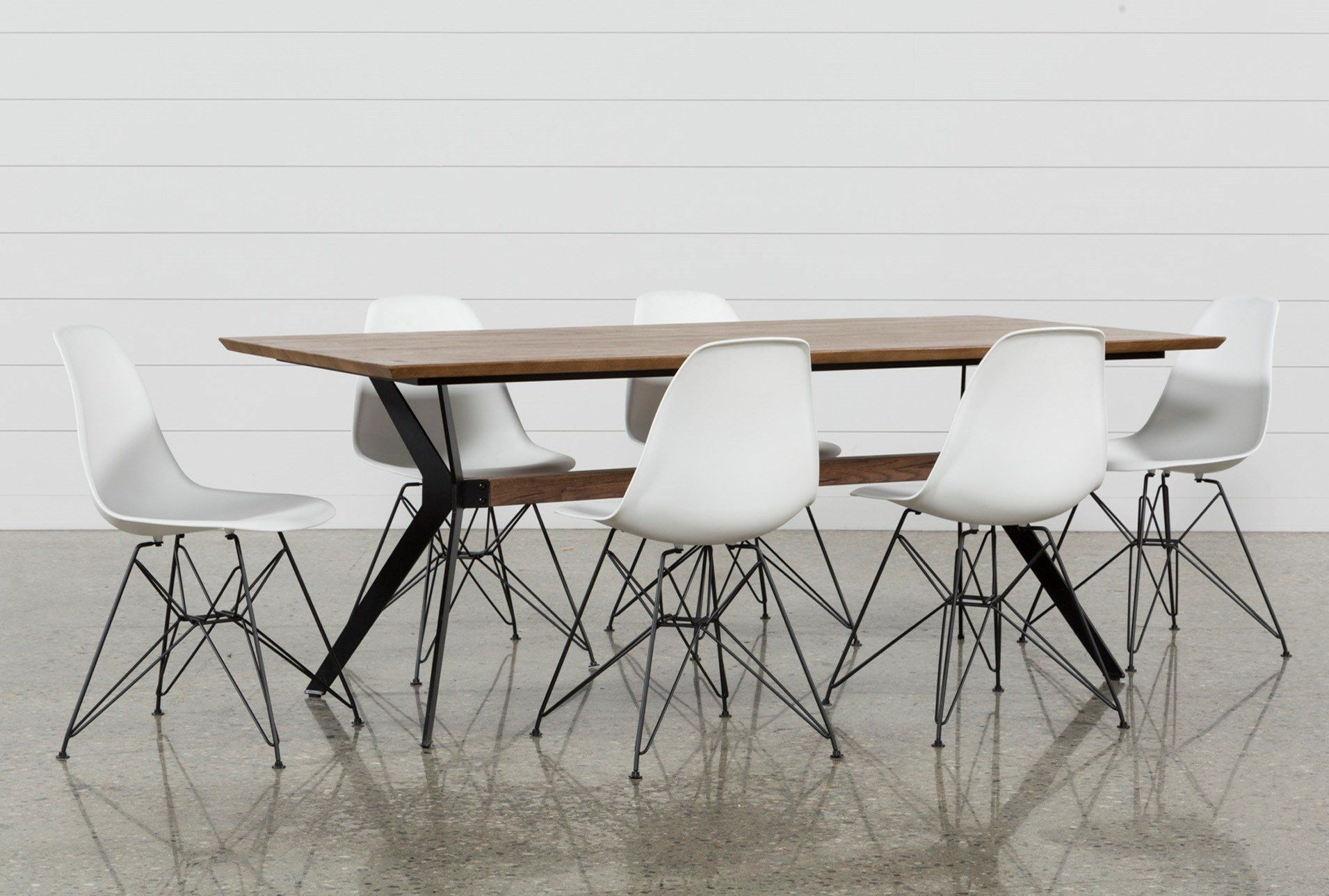 Weaver 7 Piece Dining Set With Alexa White Side Chairs | New House For Most Up To Date Weaver Dark 7 Piece Dining Sets With Alexa White Side Chairs (Image 14 of 20)