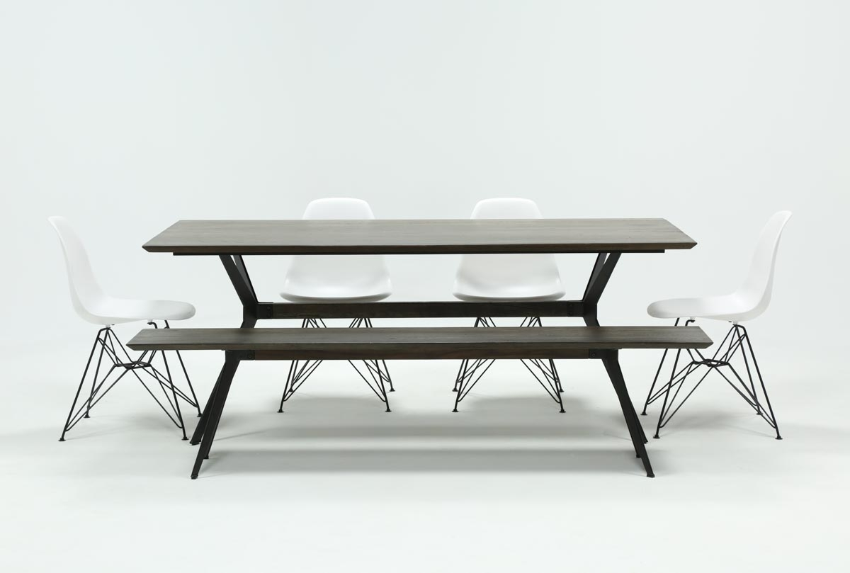 Weaver Dark 6 Piece Dining Set With Alexa White Side Chairs | Living Pertaining To Most Recent Weaver Dark 7 Piece Dining Sets With Alexa White Side Chairs (Image 15 of 20)