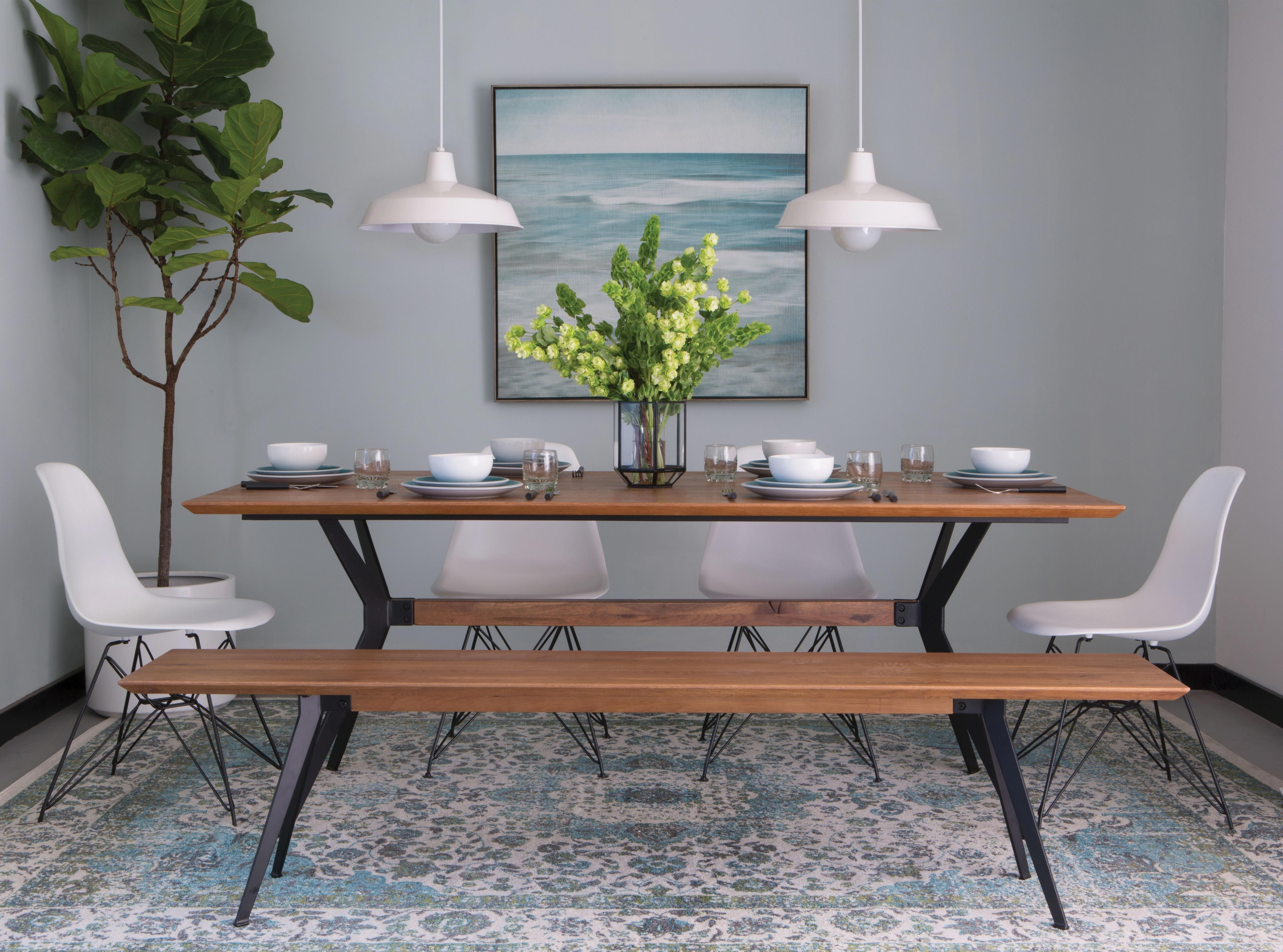 Weaver Dining Table In 2018 | Dining Room | Pinterest | Dining Throughout Latest Caira Black 5 Piece Round Dining Sets With Diamond Back Side Chairs (View 12 of 20)