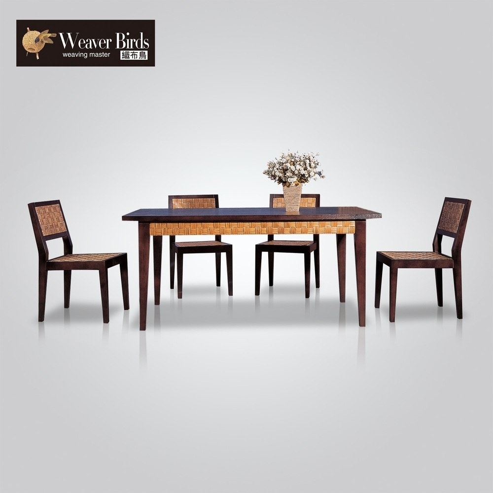 Weaver Rattan Cane Rattan Furniture Rattan Dining Table Dining Room With Regard To Best And Newest Weaver Ii Dining Tables (Image 19 of 20)