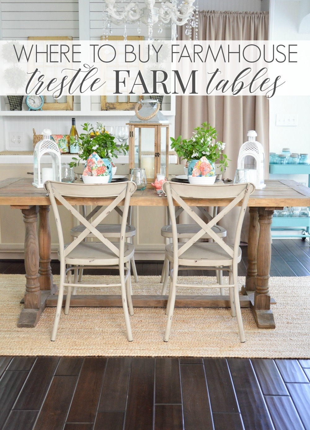 Where To Buy A Farmhouse Trestle Style Farm Table – Fox Hollow Cottage Inside Most Popular Farm Dining Tables (Image 20 of 20)
