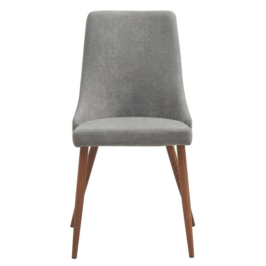 Whi Cora Side Chair (Set Of 2 – Grey & Walnut) – 202 182Gy | Modern Regarding Most Current Cora 7 Piece Dining Sets (Image 20 of 20)