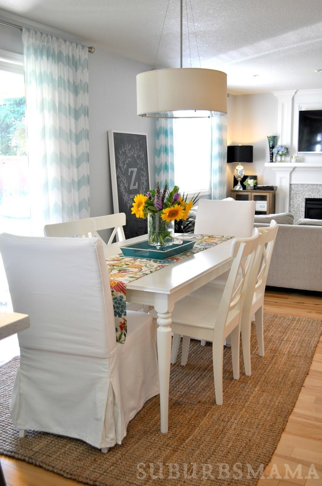 White Dining Room. Ikea Dining Table And Chairs (View 19 of 20)