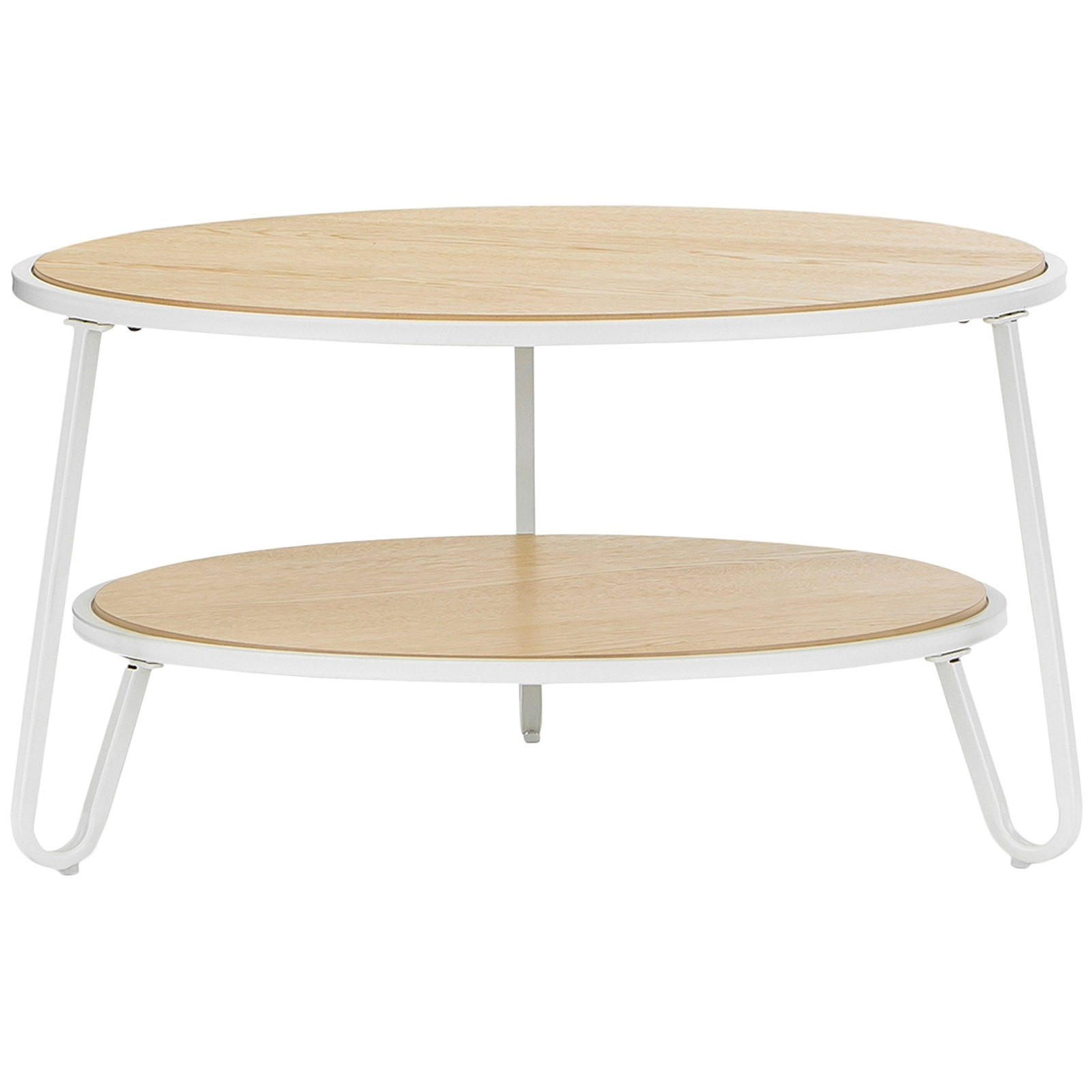 White Macy Round Coffee Table | Temple & Webster In Most Current Macie Round Dining Tables (Photo 14 of 20)