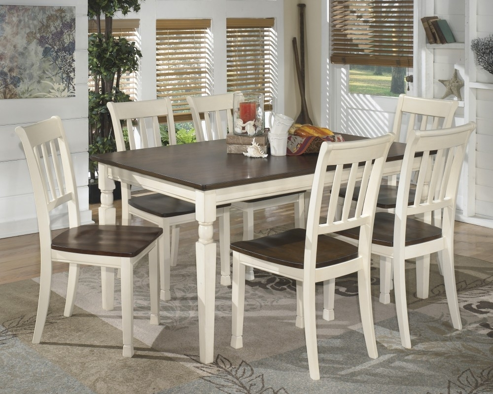 Whitesburg Rectangular Dining Room Table & 6 Side Chairs   D583/02(6 Regarding 2017 Market 6 Piece Dining Sets With Side Chairs (View 6 of 20)
