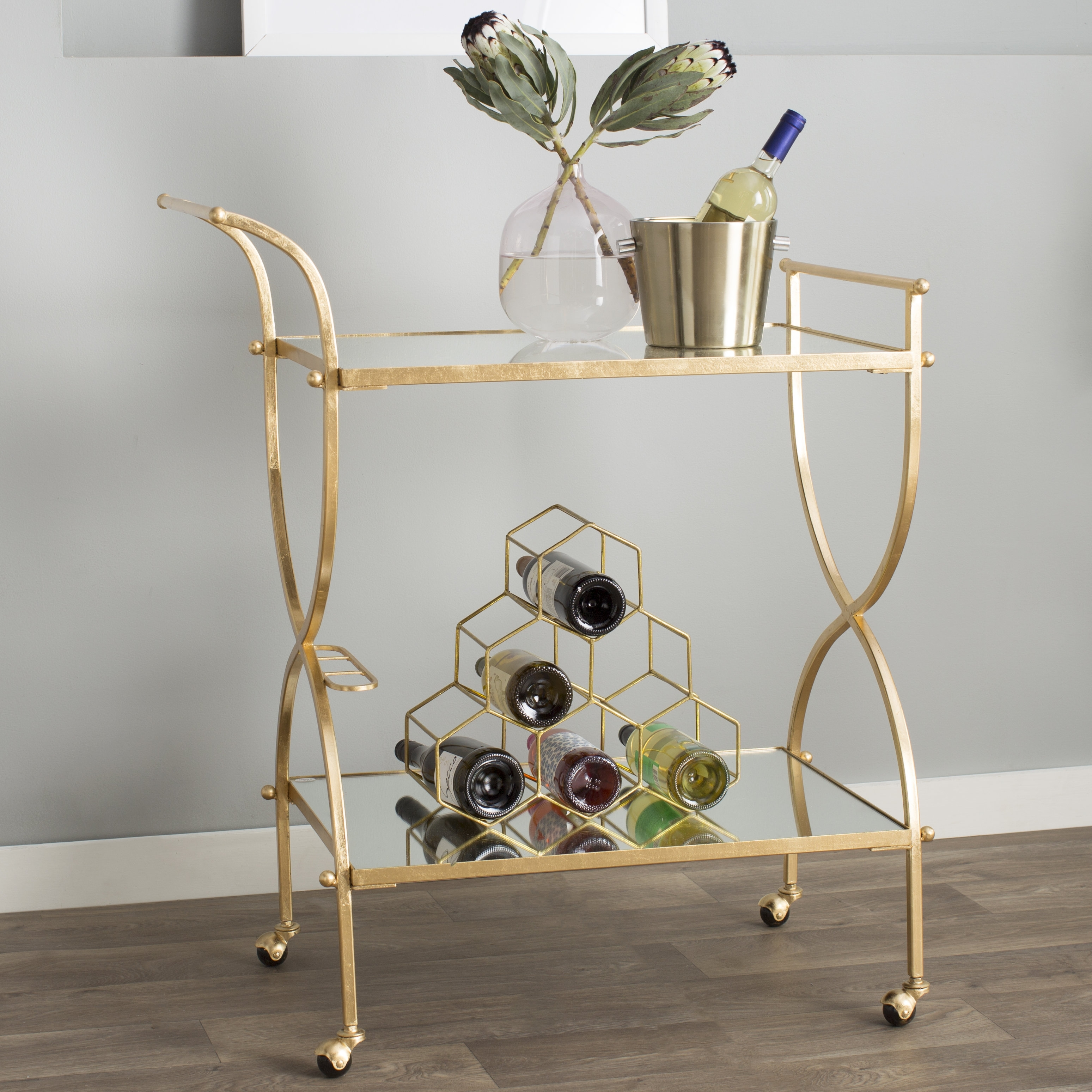 Willa Arlo Interiors Branner Bar Cart & Reviews | Wayfair For Most Current Palazzo 6 Piece Rectangle Dining Sets With Joss Side Chairs (View 20 of 20)
