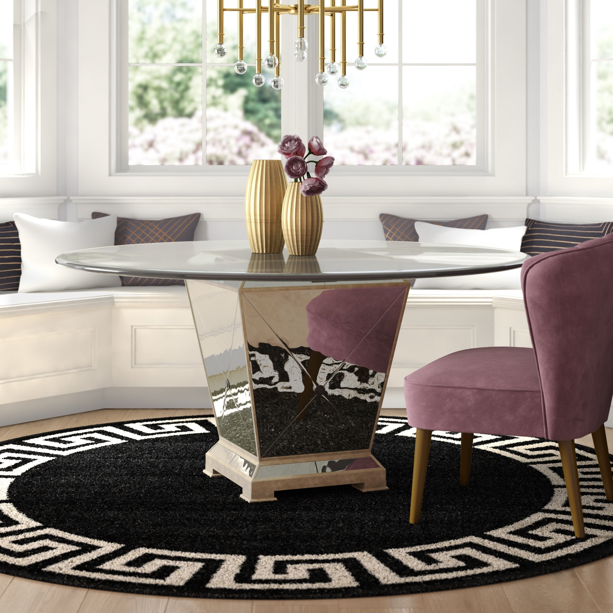 Willa Arlo Interiors Roehl Round Dining Table & Reviews | Wayfair Pertaining To Most Recently Released Macie 5 Piece Round Dining Sets (View 17 of 20)