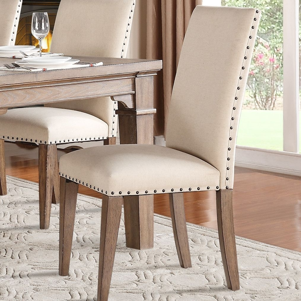 Wilmington Upholstered Dining Chair | Chairs | Pinterest | Dining With Regard To Best And Newest Wyatt 7 Piece Dining Sets With Celler Teal Chairs (Image 17 of 20)