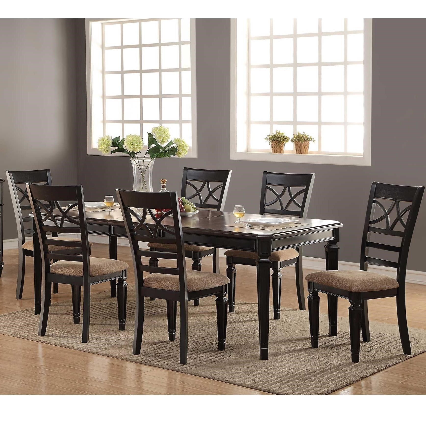 Winners Only Arlington 7 Piece Dining Set With X Back Chairs In Most Recent Parquet 7 Piece Dining Sets (View 7 of 20)