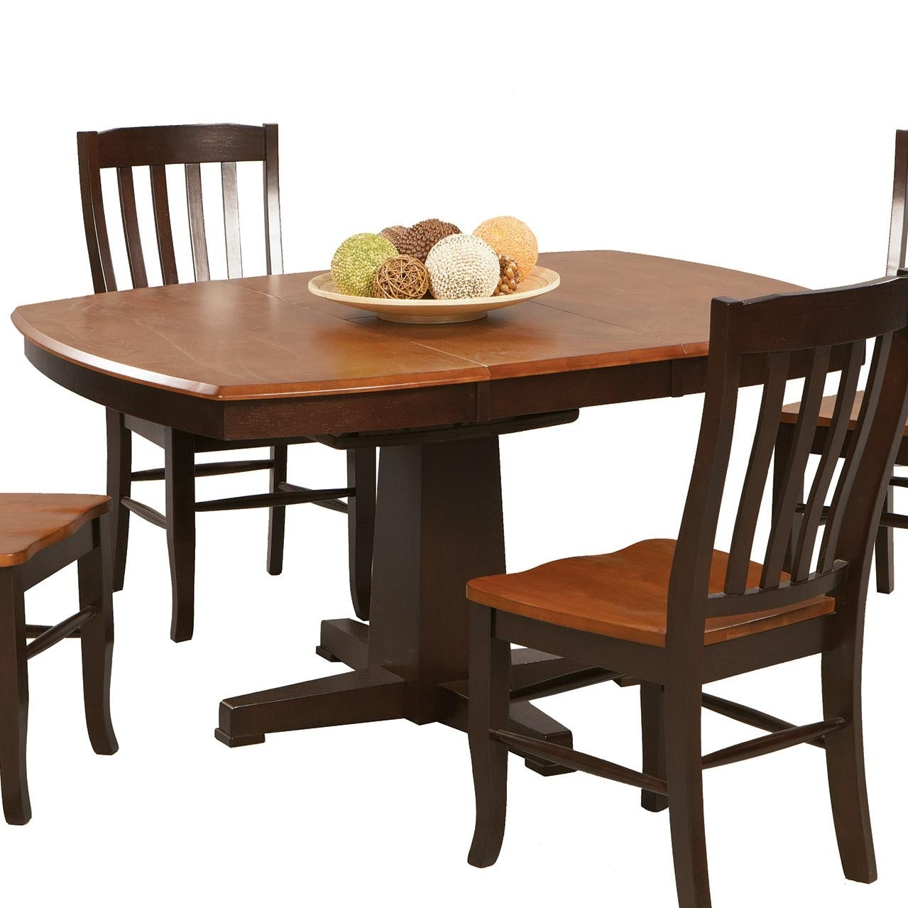 Winners Only Santa Fe – Chestnut/espresso Single Pedestal Dining Intended For Most Popular Lindy Espresso Rectangle Dining Tables (Image 18 of 20)