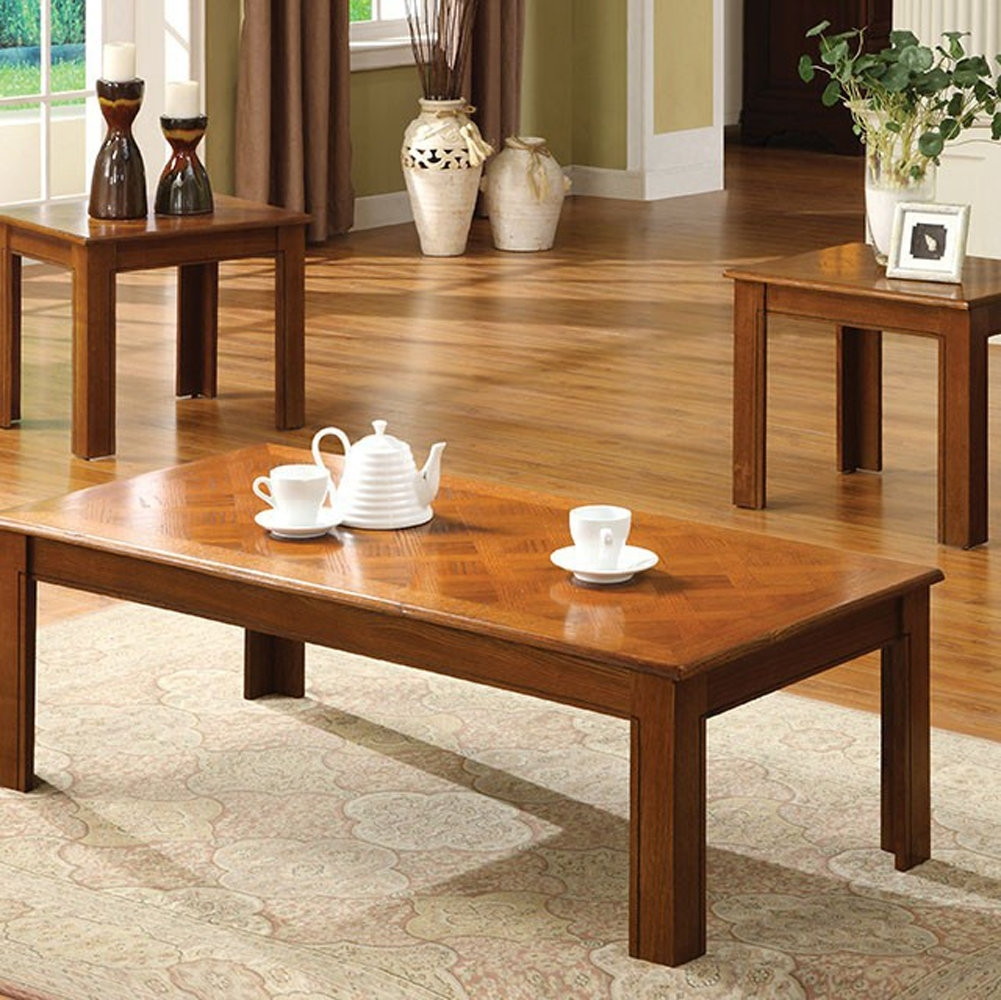 Winston Porter Partridge 3 Piece Coffee Table Sets | Wayfair With Regard To Latest Partridge Dining Tables (Image 20 of 20)