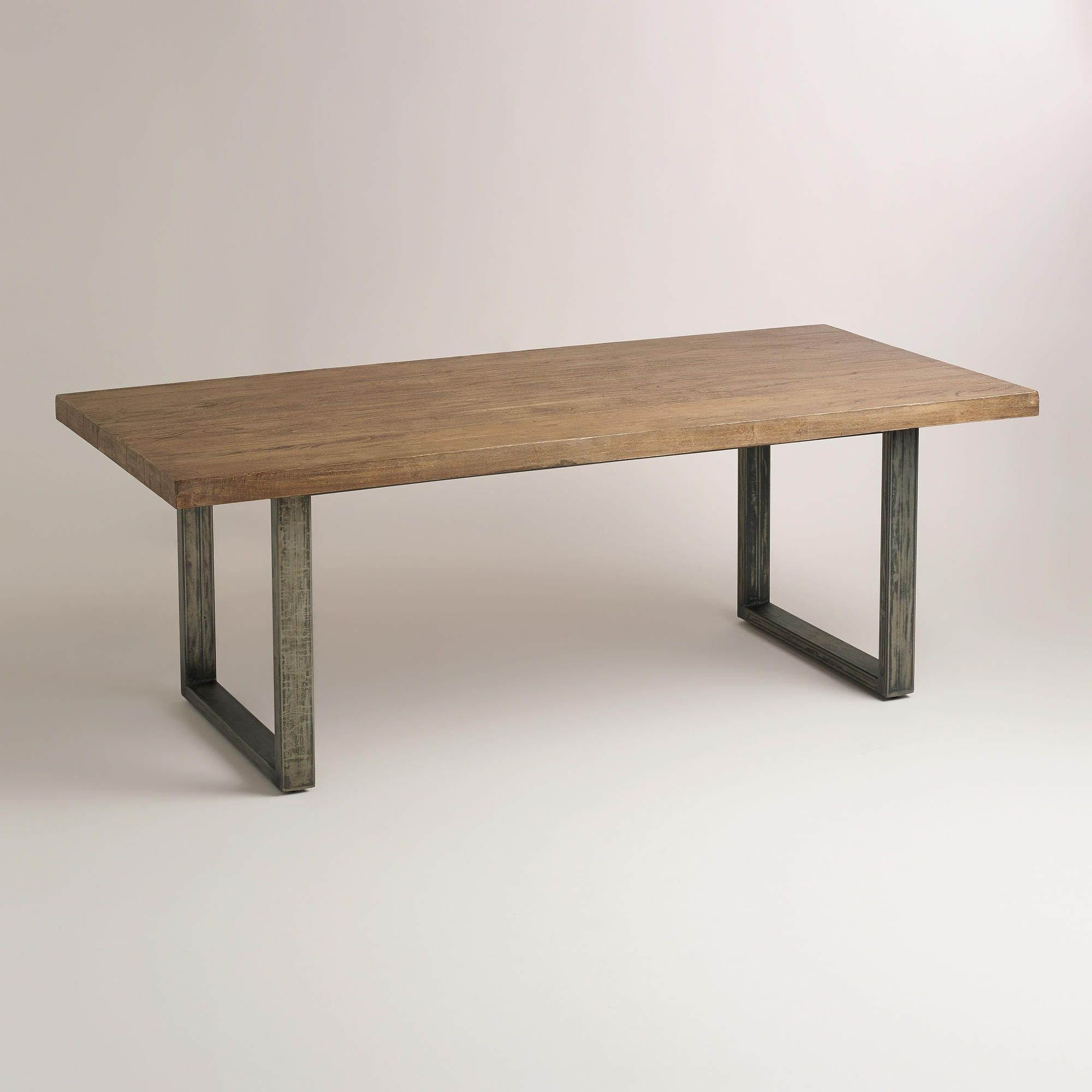 Wood And Metal Edgar Dining Table | World Market $700 | Ideas For Intended For Most Current Market Dining Tables (Image 16 of 20)
