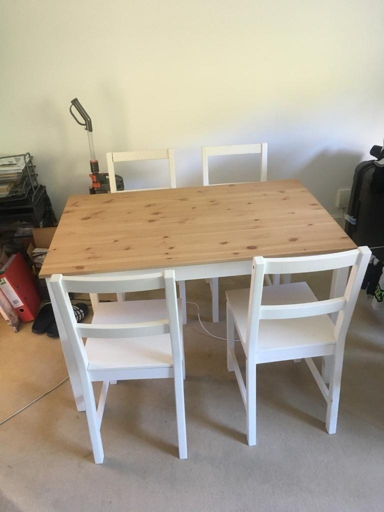 Wood Topped Ikea Table | In Norwood, London | Gumtree Throughout Most Popular Norwood Rectangle Extension Dining Tables (Image 20 of 20)