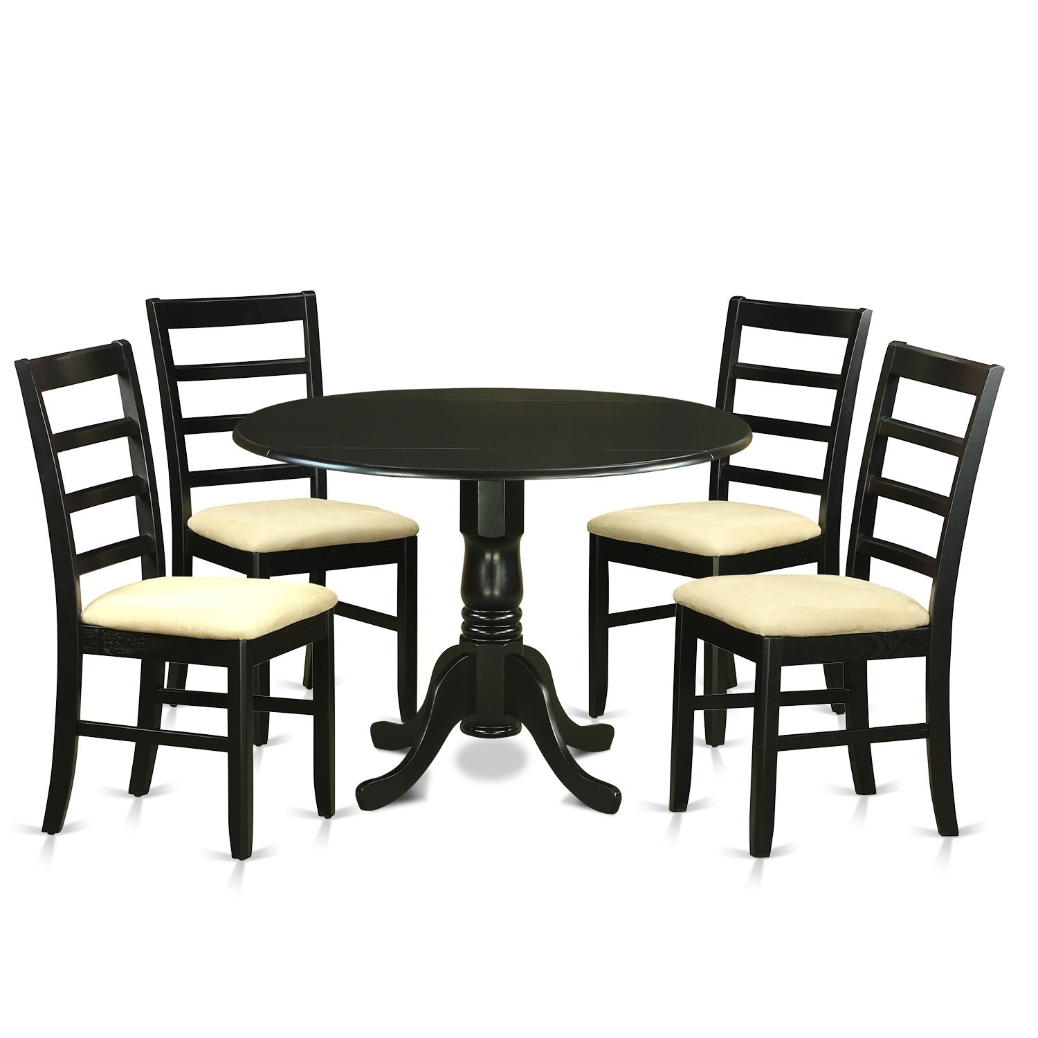 Wooden Importers Dublin 5 Piece Dining Set | Wayfair Regarding 2018 Caira Black 5 Piece Round Dining Sets With Upholstered Side Chairs (Image 20 of 20)