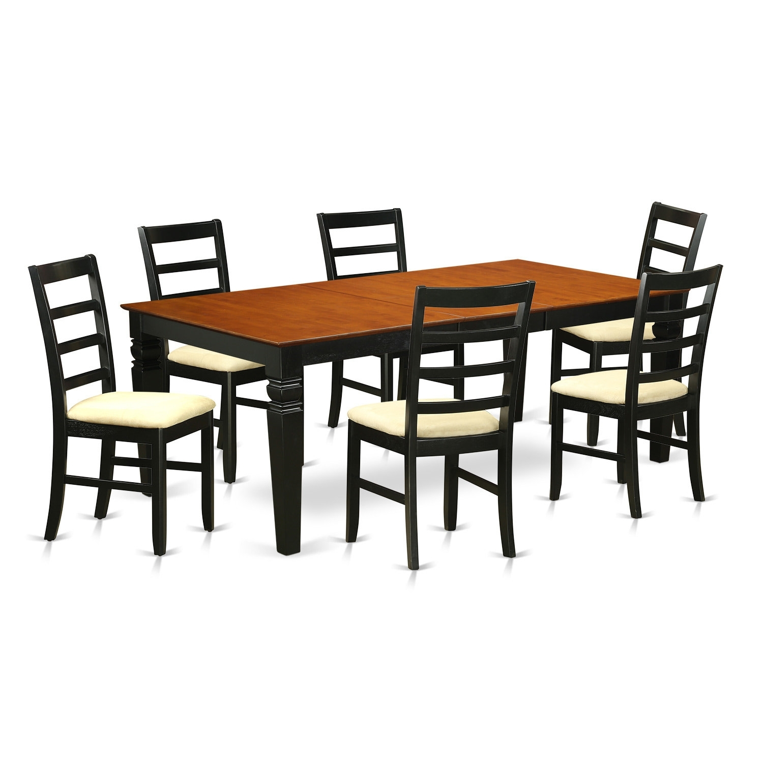 Wooden Importers Logan 7 Piece Dining Set | Wayfair For 2018 Chandler 7 Piece Extension Dining Sets With Fabric Side Chairs (View 15 of 20)