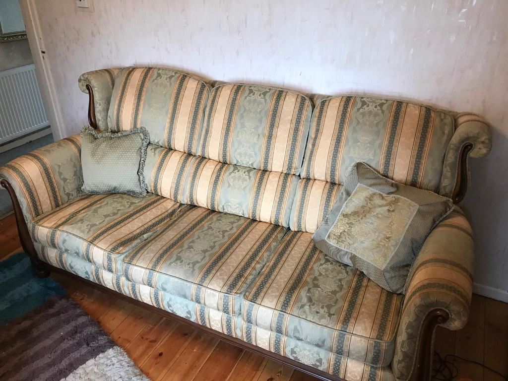 3 Seater Sofa, Arm Chair And Foot Stall | In Exeter, Devon | Gumtree Regarding Devon Ii Arm Sofa Chairs (Image 3 of 20)