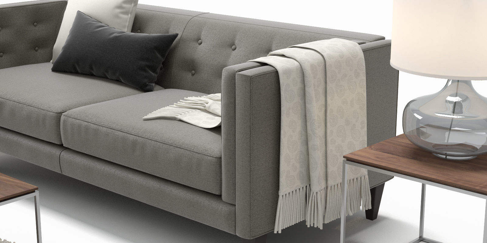 3D Crate And Barrel Aidan Sofa Chair | Cgtrader Regarding Aidan Ii Sofa Chairs (Image 1 of 20)