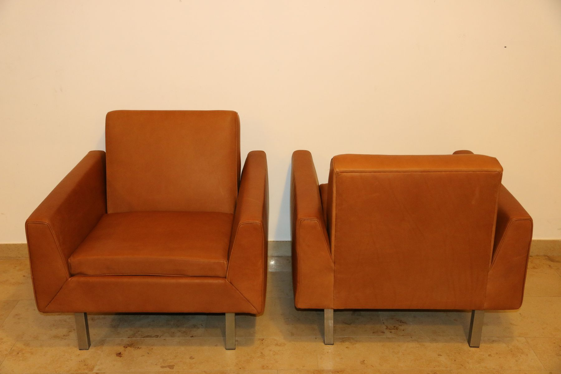 410 Club Chairstheo Ruth For Artifort, 1956, Set Of 2 For Sale Within Theo Ii Swivel Chairs (Image 2 of 20)