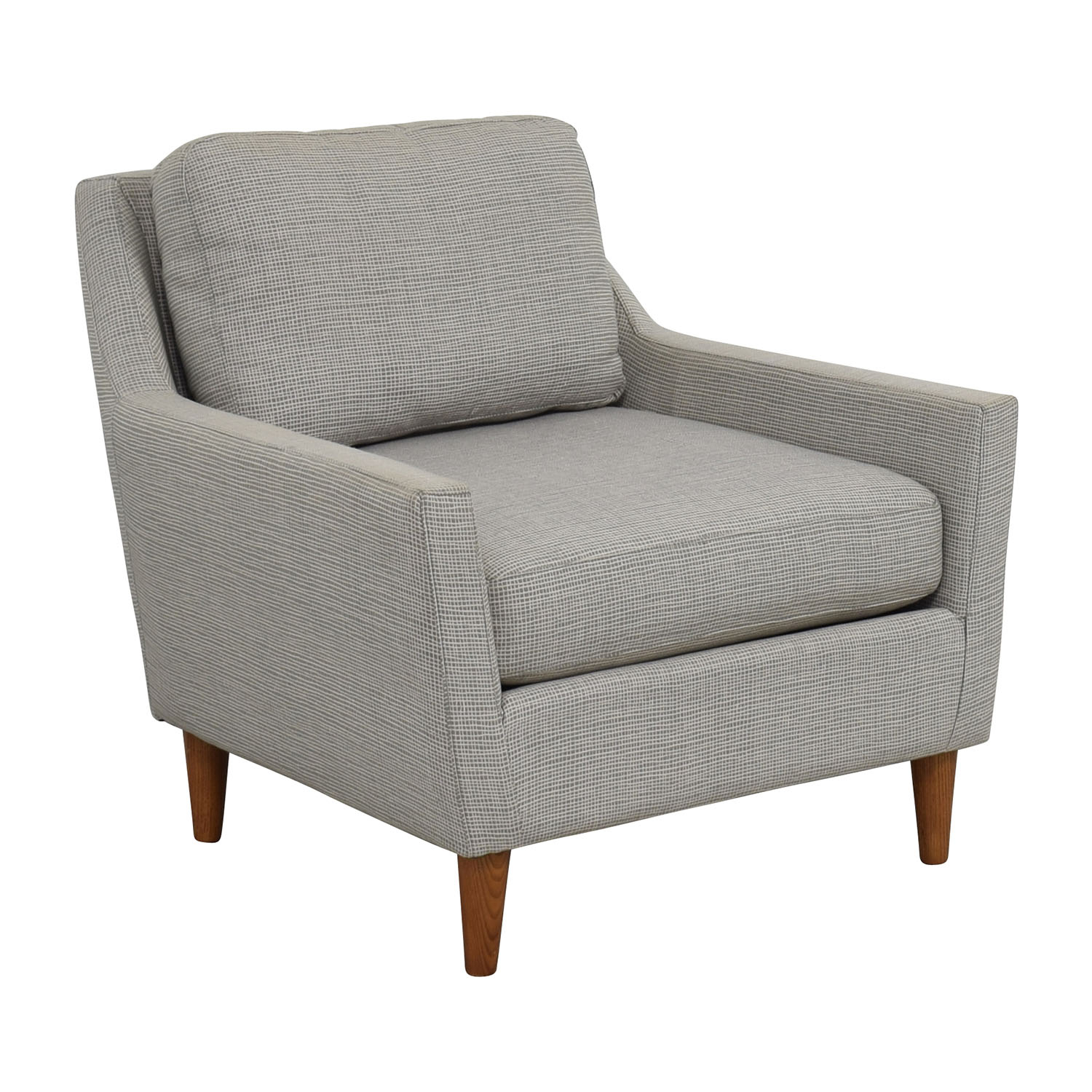 66% Off – West Elm West Elm Grey Everett Sofa Chair / Chairs Pertaining To Elm Sofa Chairs (Photo 16 of 20)