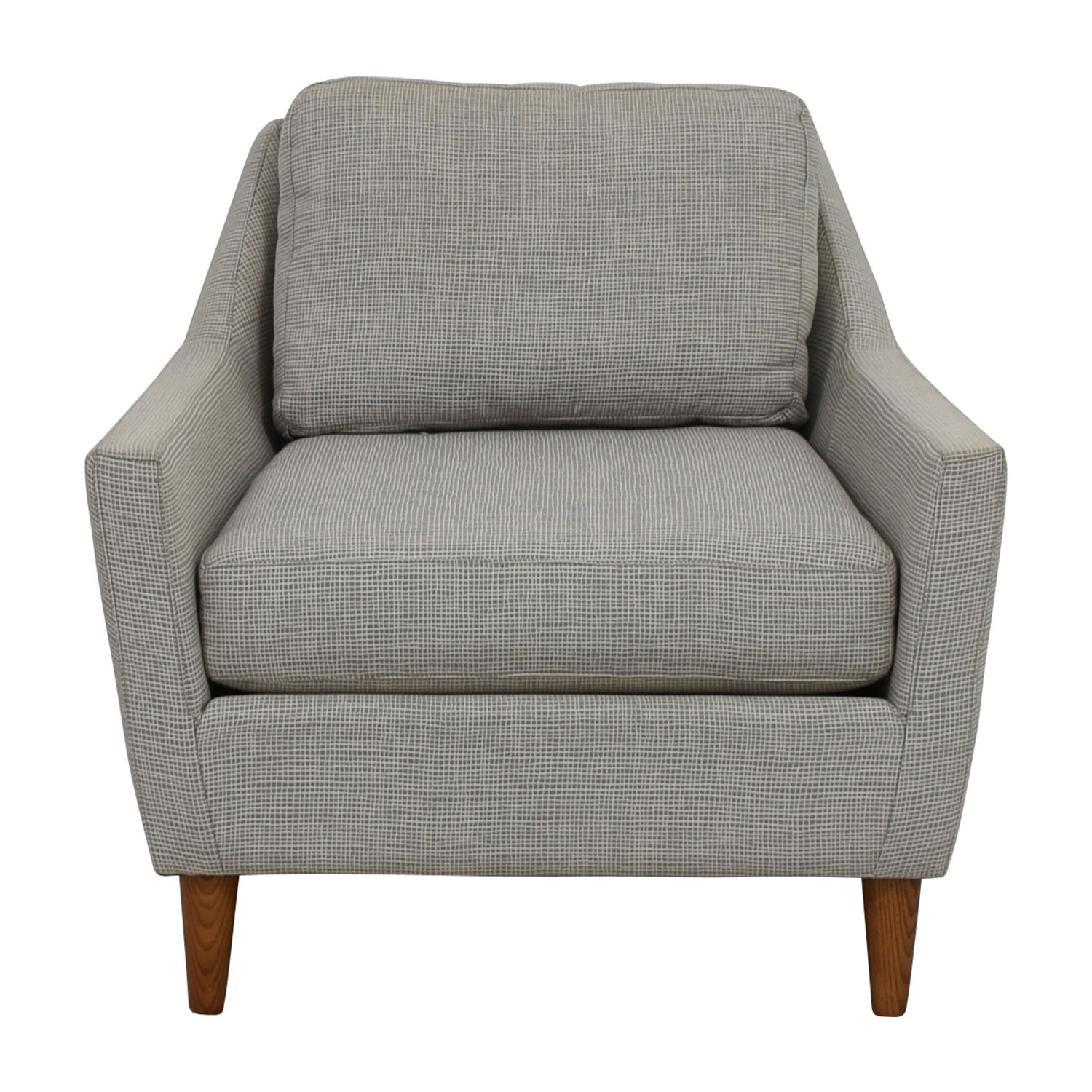 66% Off – West Elm West Elm Grey Everett Sofa Chair / Chairs With Elm Sofa Chairs (Photo 1 of 20)