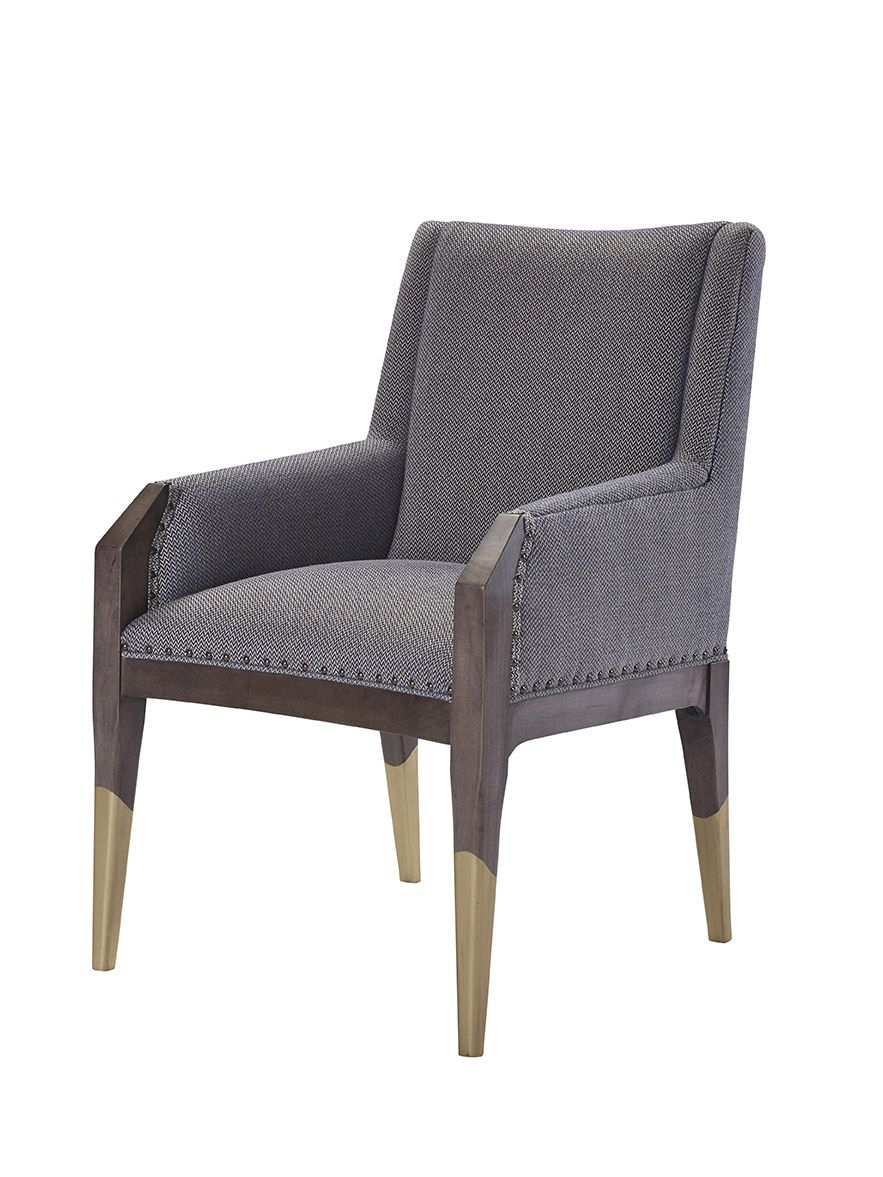 8506 11 Tate Arm Chair With Gilded Legs | Hable For Hickory Chair Tm Regarding Tate Arm Sofa Chairs (Photo 1 of 20)