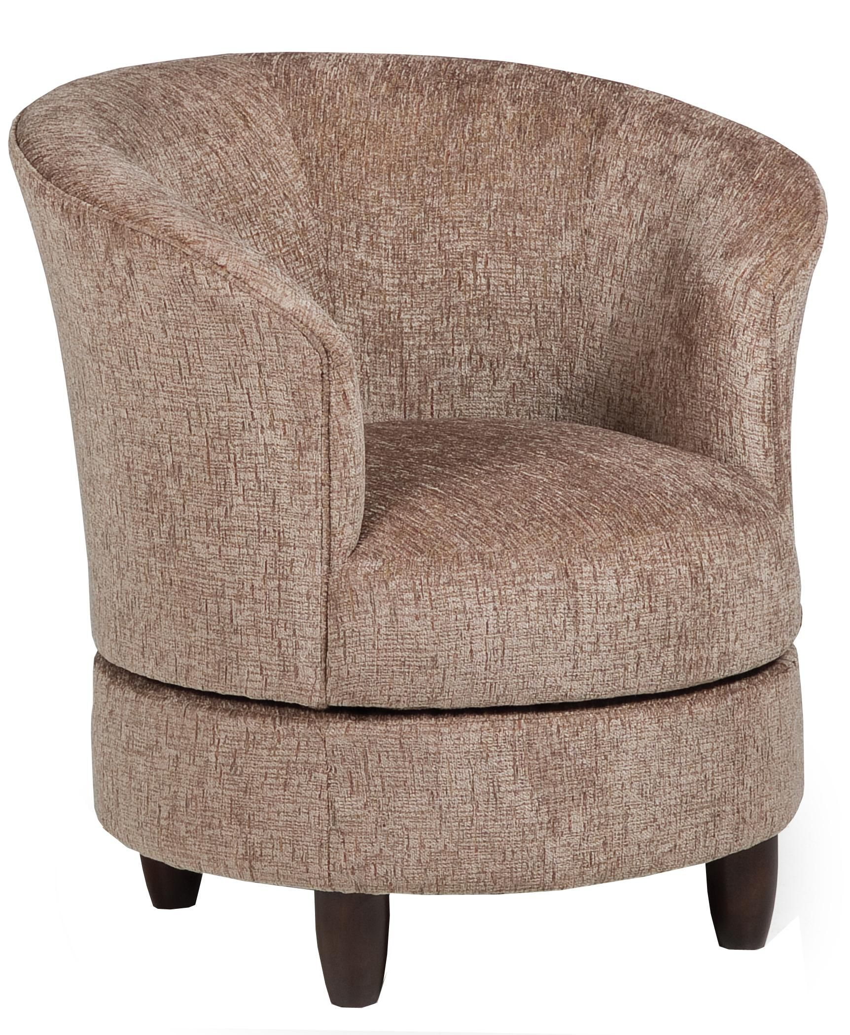 Accent Chairs Swivel Barrel Chairbest Home Furnishings | Living Within Harbor Grey Swivel Accent Chairs (Image 2 of 20)