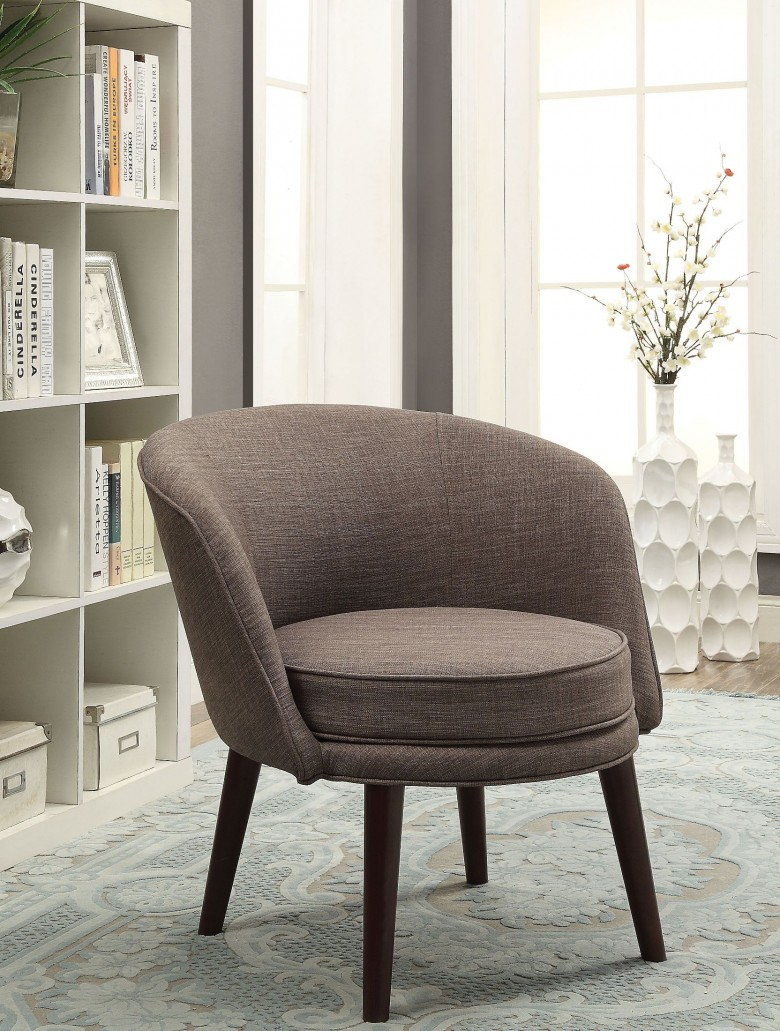 Acme Amari Gray Stone Linen Accent Chair – Amari Collection: 6 Inside Amari Swivel Accent Chairs (View 5 of 20)