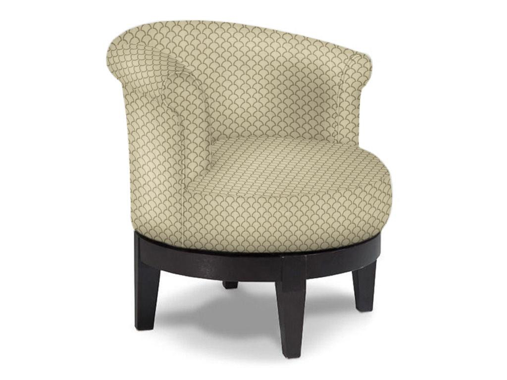 Addison Round Swivel Chair Low Profile | Fun Accent Chairs | Abode Within Umber Grey Swivel Accent Chairs (Image 2 of 20)