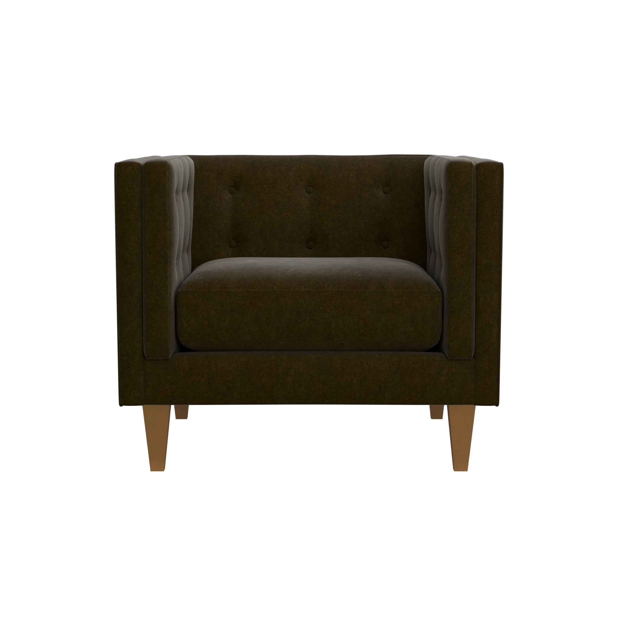 """Aidan Velvet 38"""" Tufted Chair 
