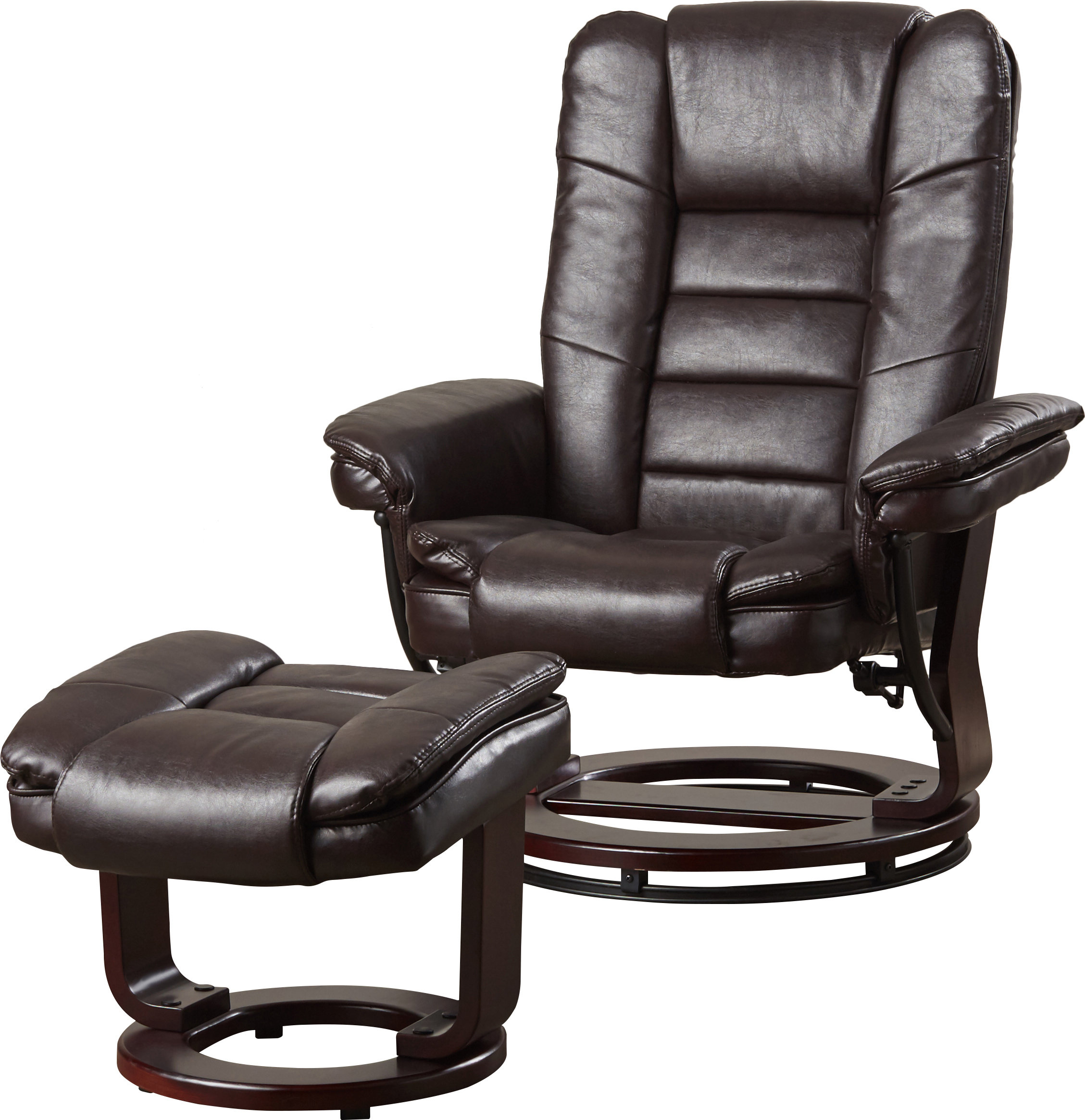 Alcott Hill Hammersdale Manual Swivel Recliner With Ottoman For Dale Iii Polyurethane Swivel Glider Recliners (Image 2 of 20)