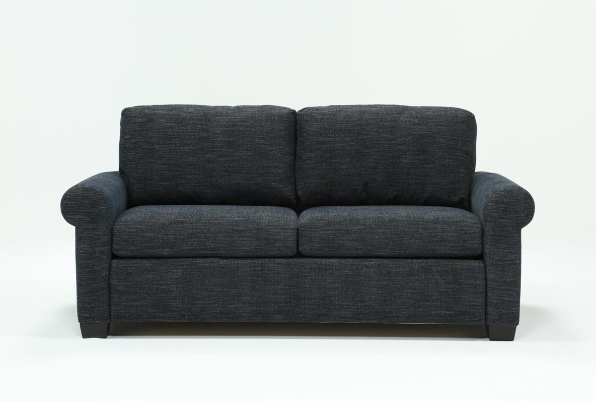 Alexis Denim Queen Sofa Sleeper | Living Spaces With Regard To Cohen Foam Oversized Sofa Chairs (View 19 of 20)