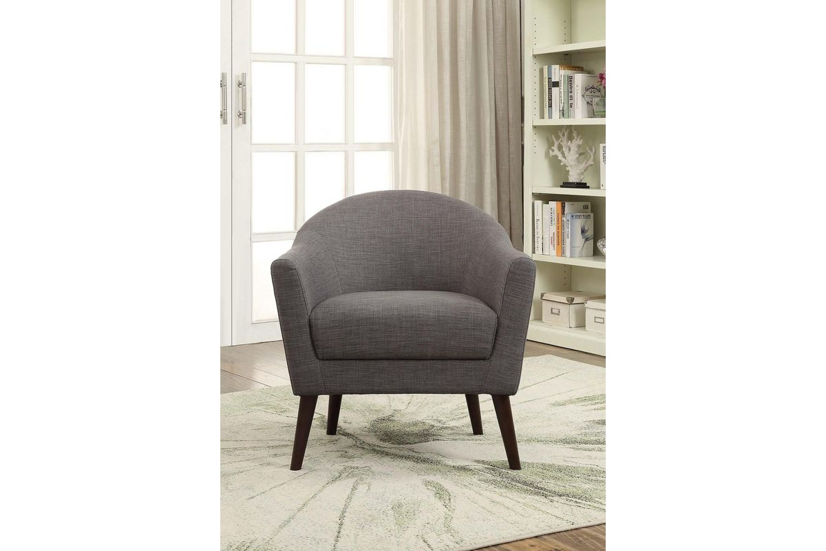 Amari Accent Chair In Greyacme At Gardner White Intended For Amari Swivel Accent Chairs (View 4 of 20)