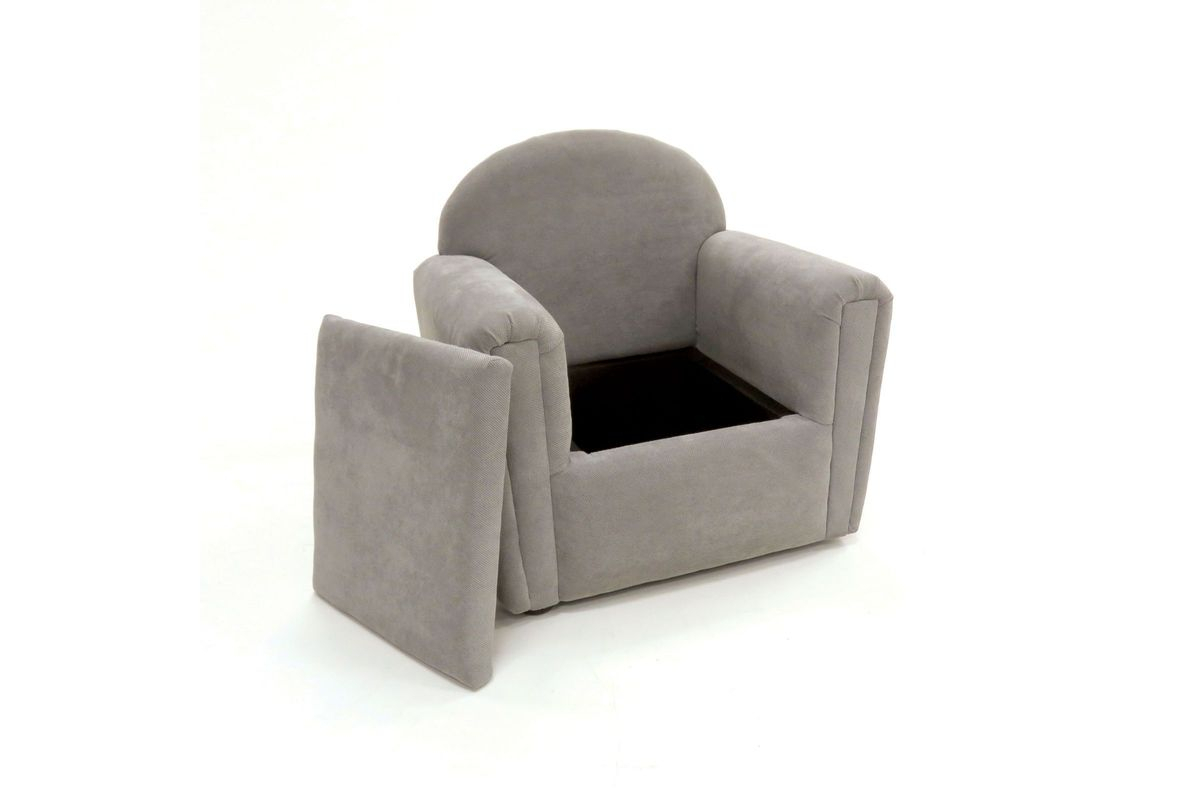 Amari Hidden Seat Storage Youth Accent Chair In Grey At Gardner White In Amari Swivel Accent Chairs (View 11 of 20)