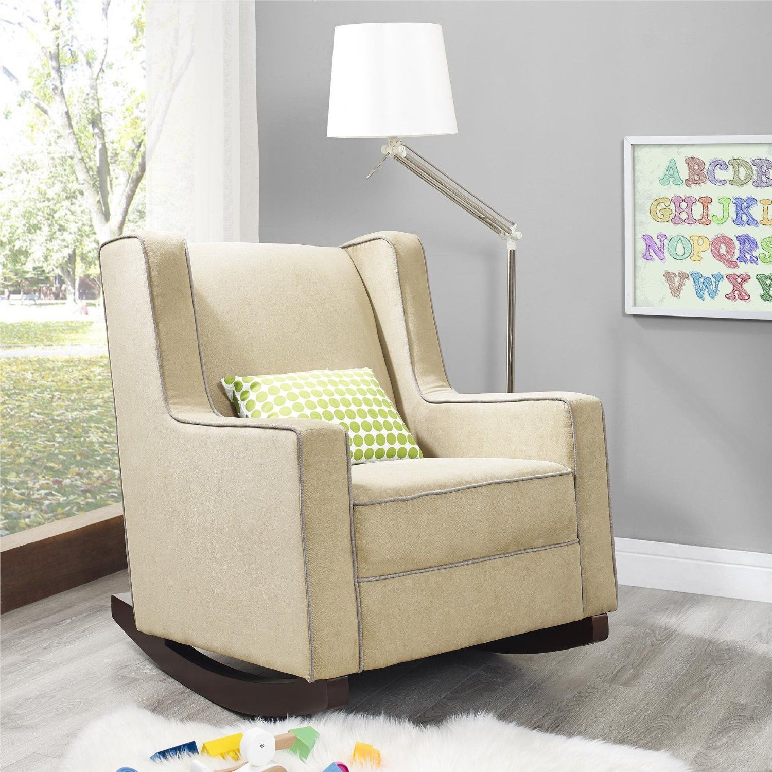 Amazon – Baby Relax The Abby Nursery Rocker Chair, Beige Inside Abbey Swivel Glider Recliners (View 8 of 20)