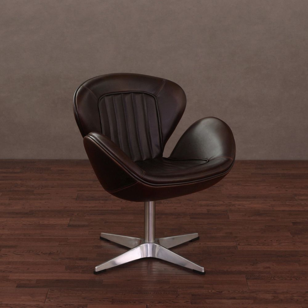 Featured Image of Swivel Tobacco Leather Chairs