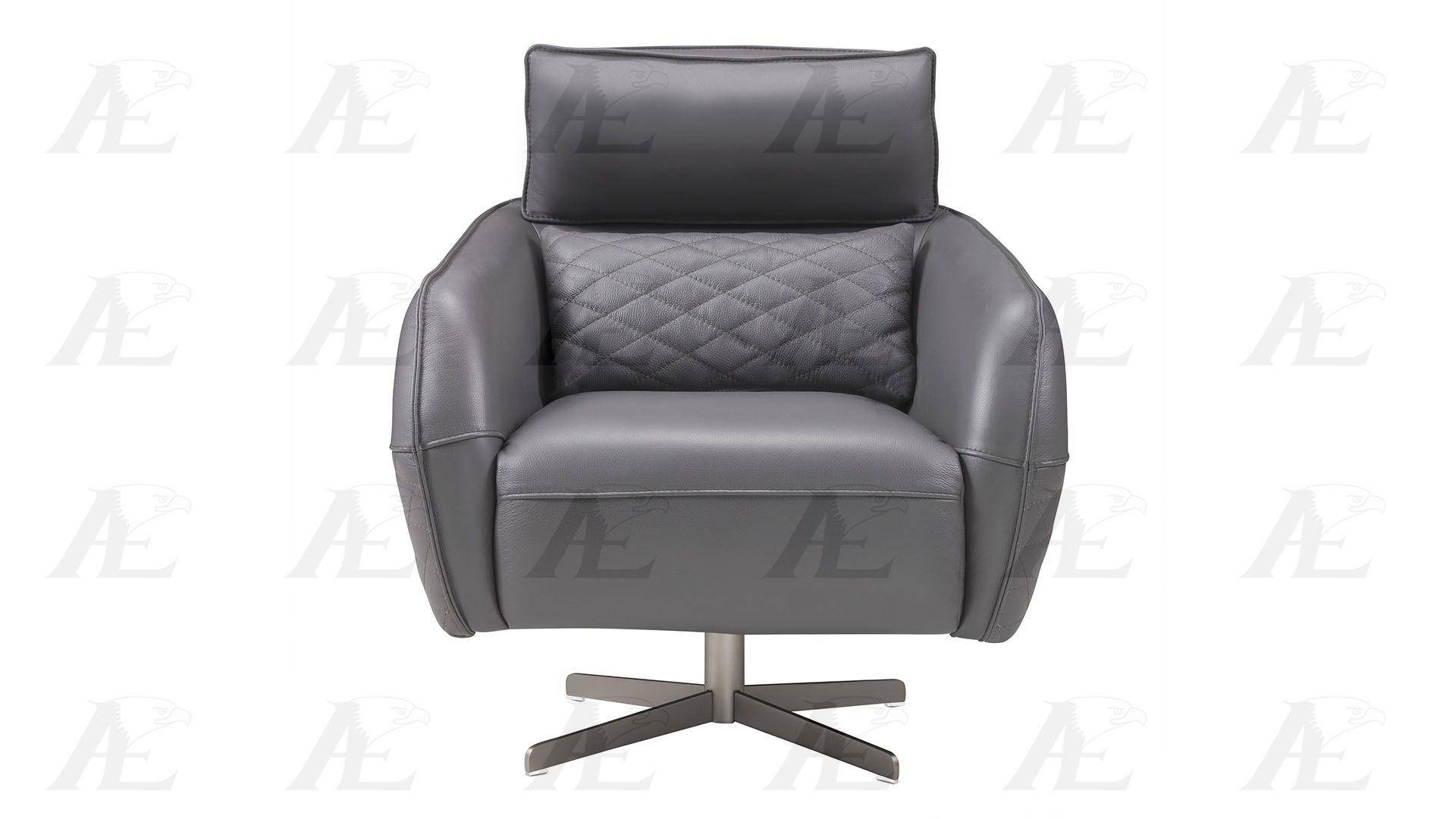 American Eagle Furniture Ek Ch06A Gr Dark Gray Swivel Accent Chair Within Dark Grey Swivel Chairs (Image 2 of 20)