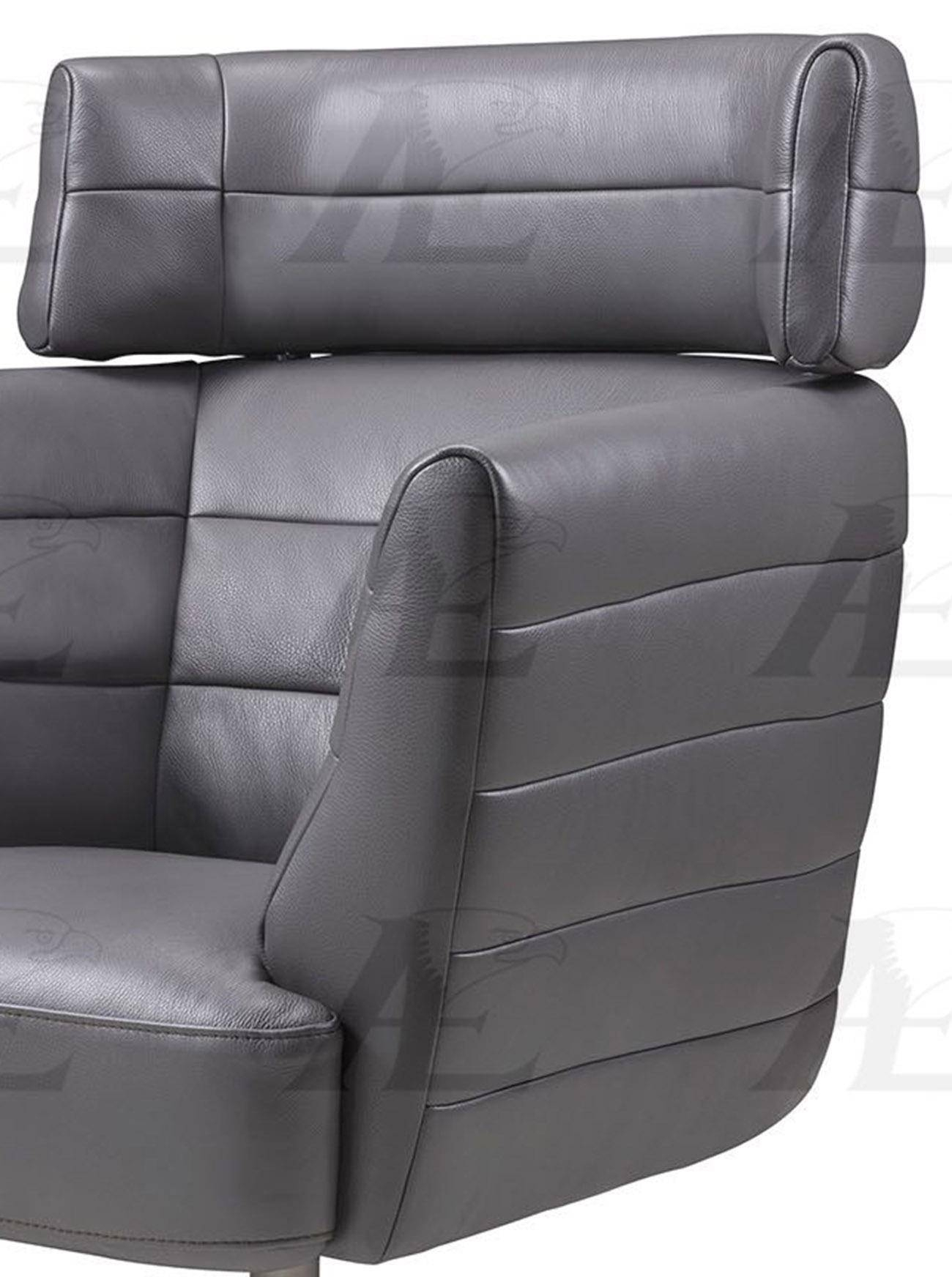 American Eagle Furniture Ek Ch08A Gr Dark Gray Swivel Accent Chair In Dark Grey Swivel Chairs (Image 3 of 20)