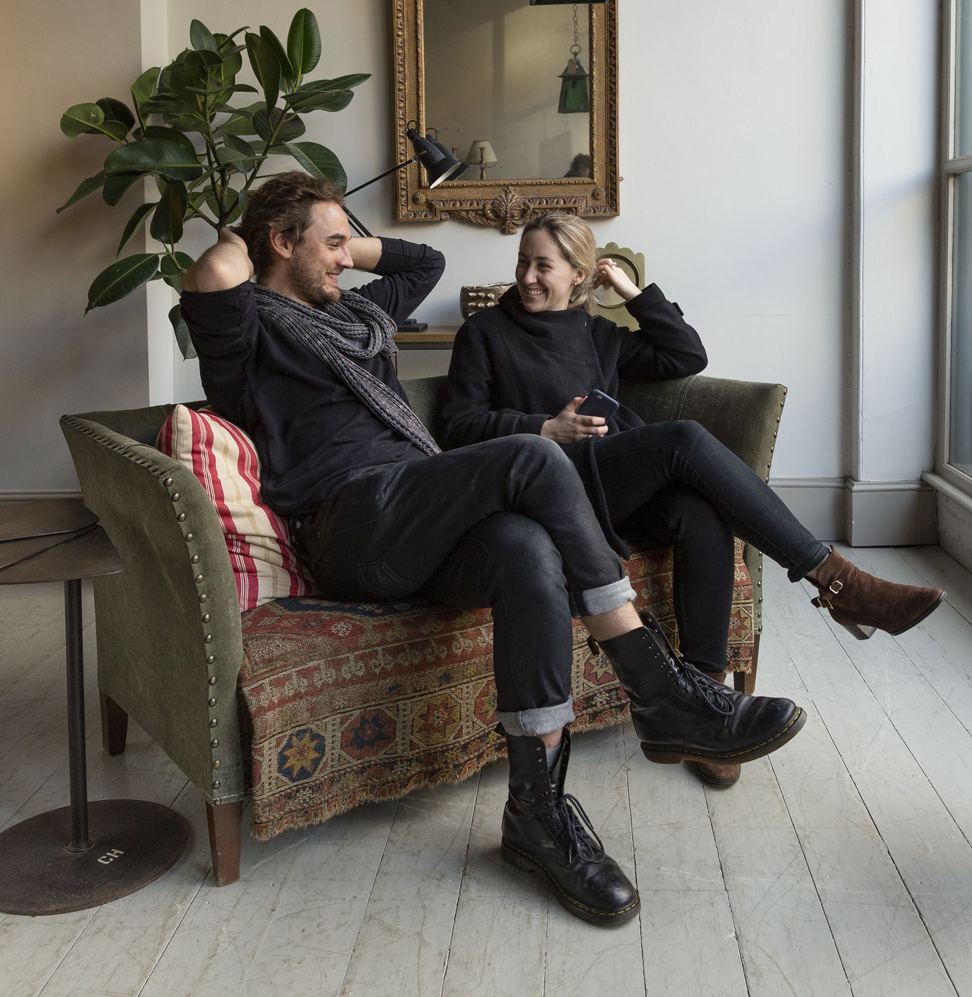 Ames & Claire Kicking Back On A Friday In This Fantastically Sized Regarding Ames Arm Sofa Chairs (View 15 of 20)