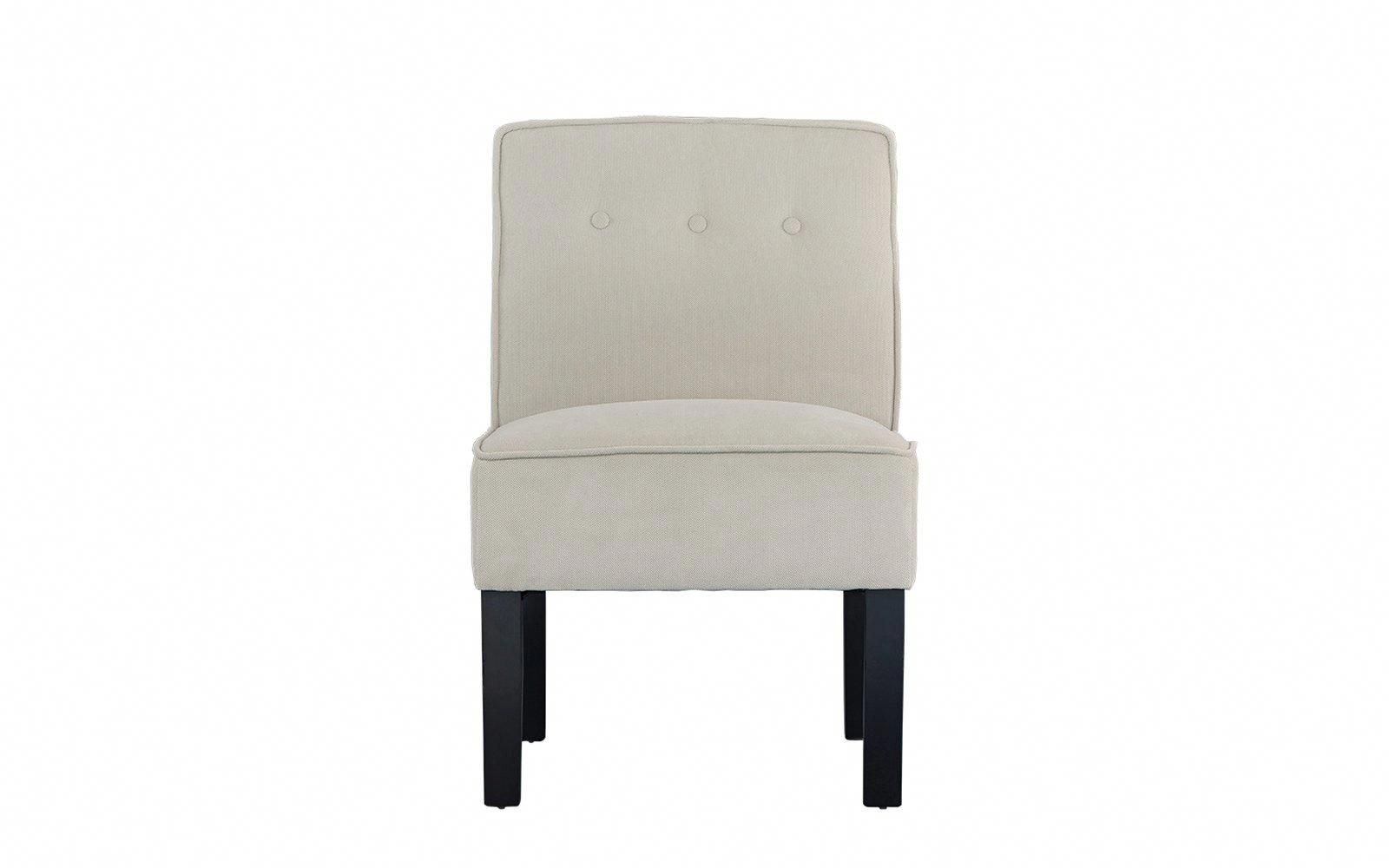 Ames Classic Armless Linen Accent Chair #ameschair | Oversized Chair With Regard To Ames Arm Sofa Chairs (Image 4 of 20)
