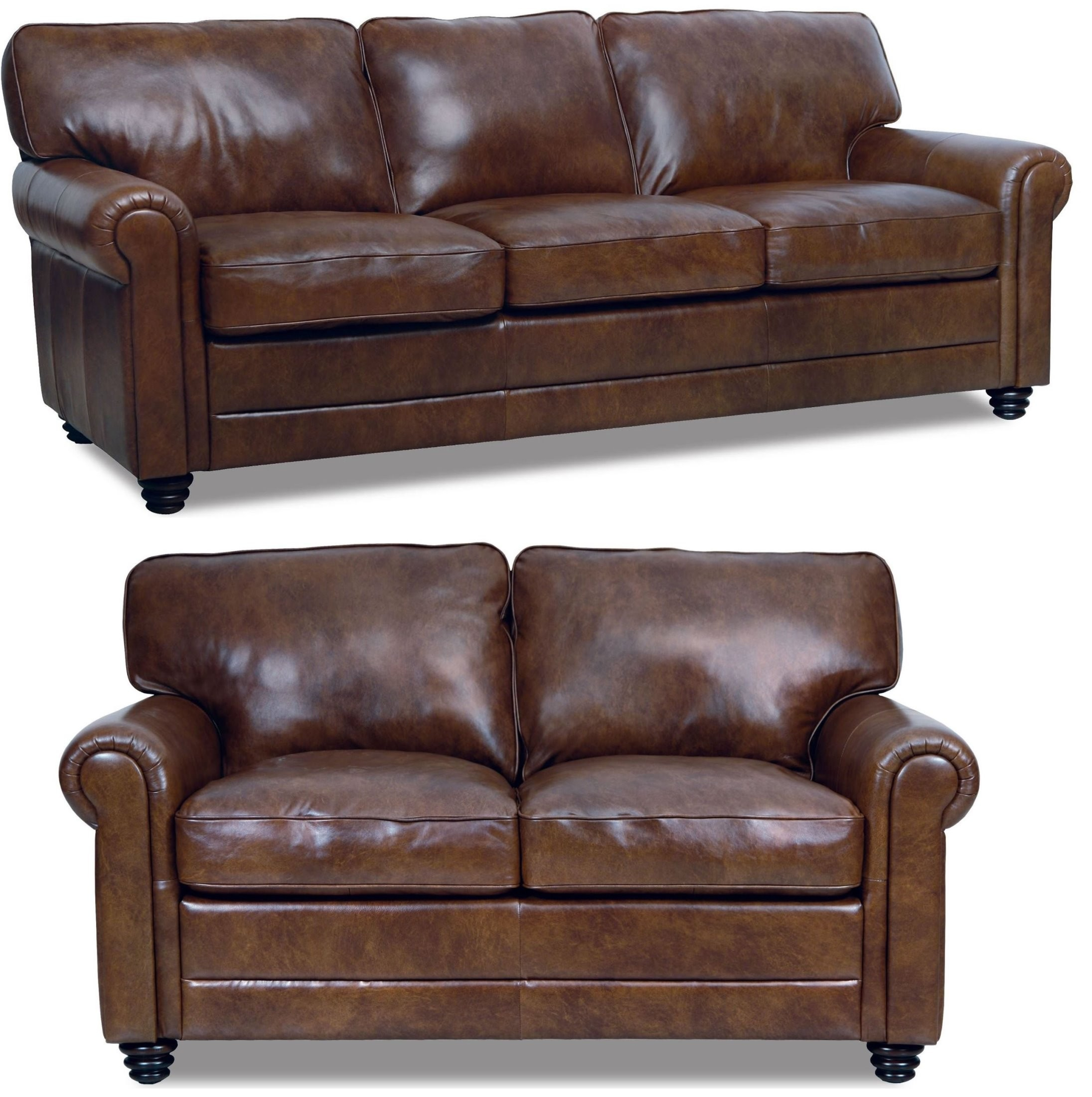 Andrew Italian Leather Living Room Set From Luke Leather (Andrew In Andrew Leather Sofa Chairs (Image 4 of 20)