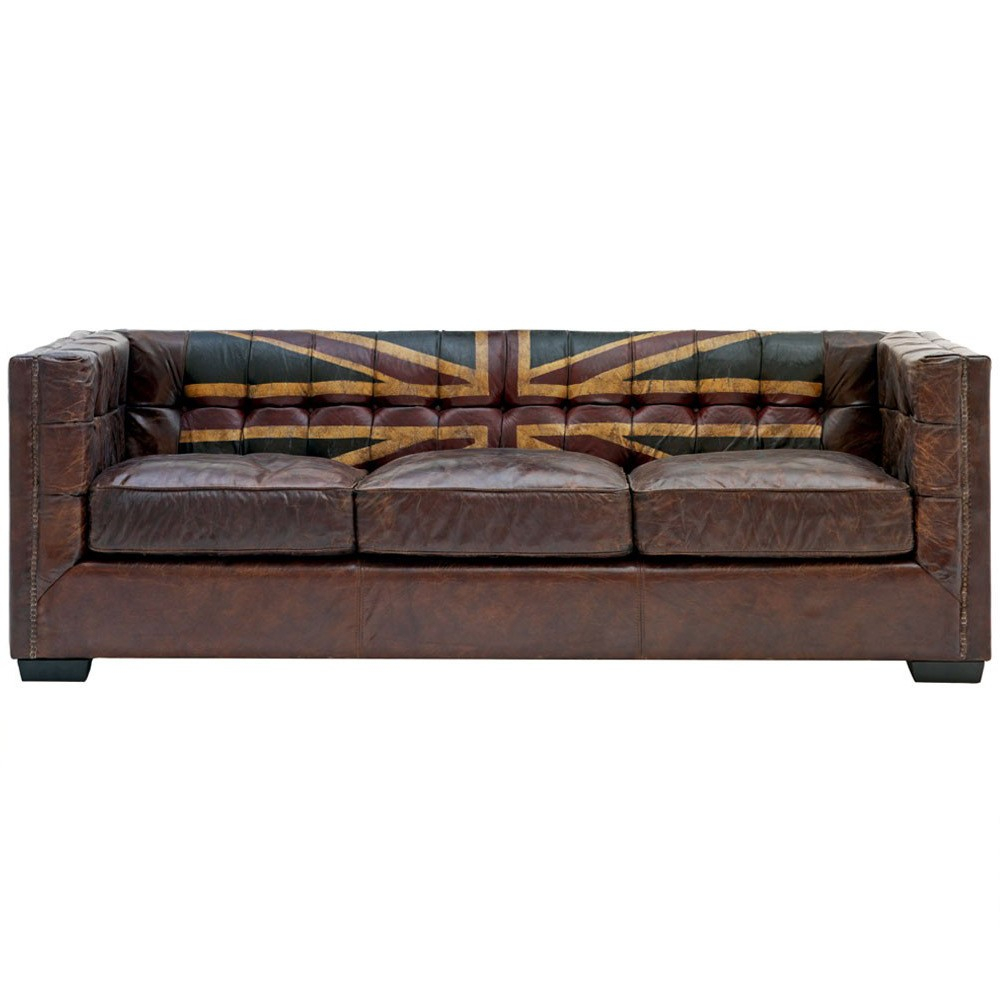 Andrew Martin Armstrong Union Jack Sofa | Houseology With Andrew Leather Sofa Chairs (Image 8 of 20)