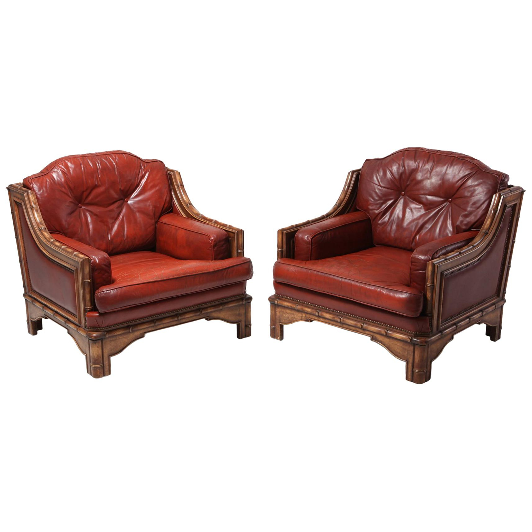 Antique And Vintage Club Chairs – 2,919 For Sale At 1Stdibs Regarding Gina Blue Leather Sofa Chairs (Image 3 of 20)